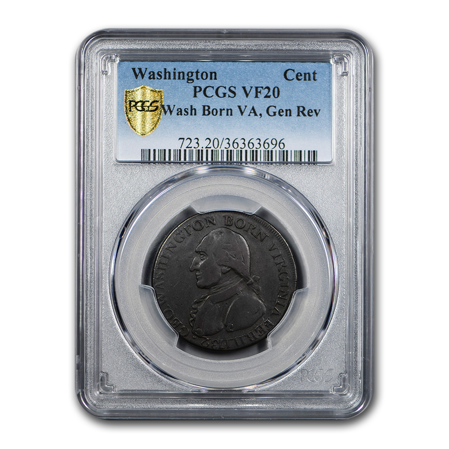 1792 Washington Cent VF-20 PCGS