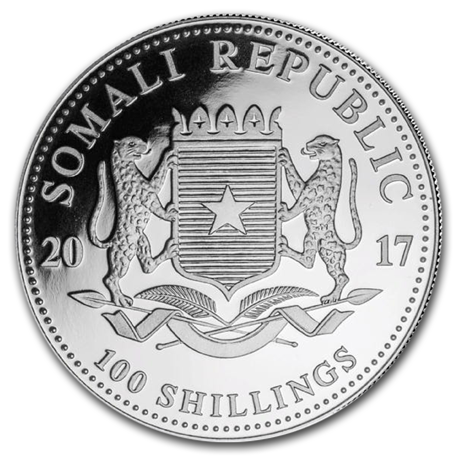 2017 Somalia 1 oz Silver Elephant (MintDirect® Premier Single)