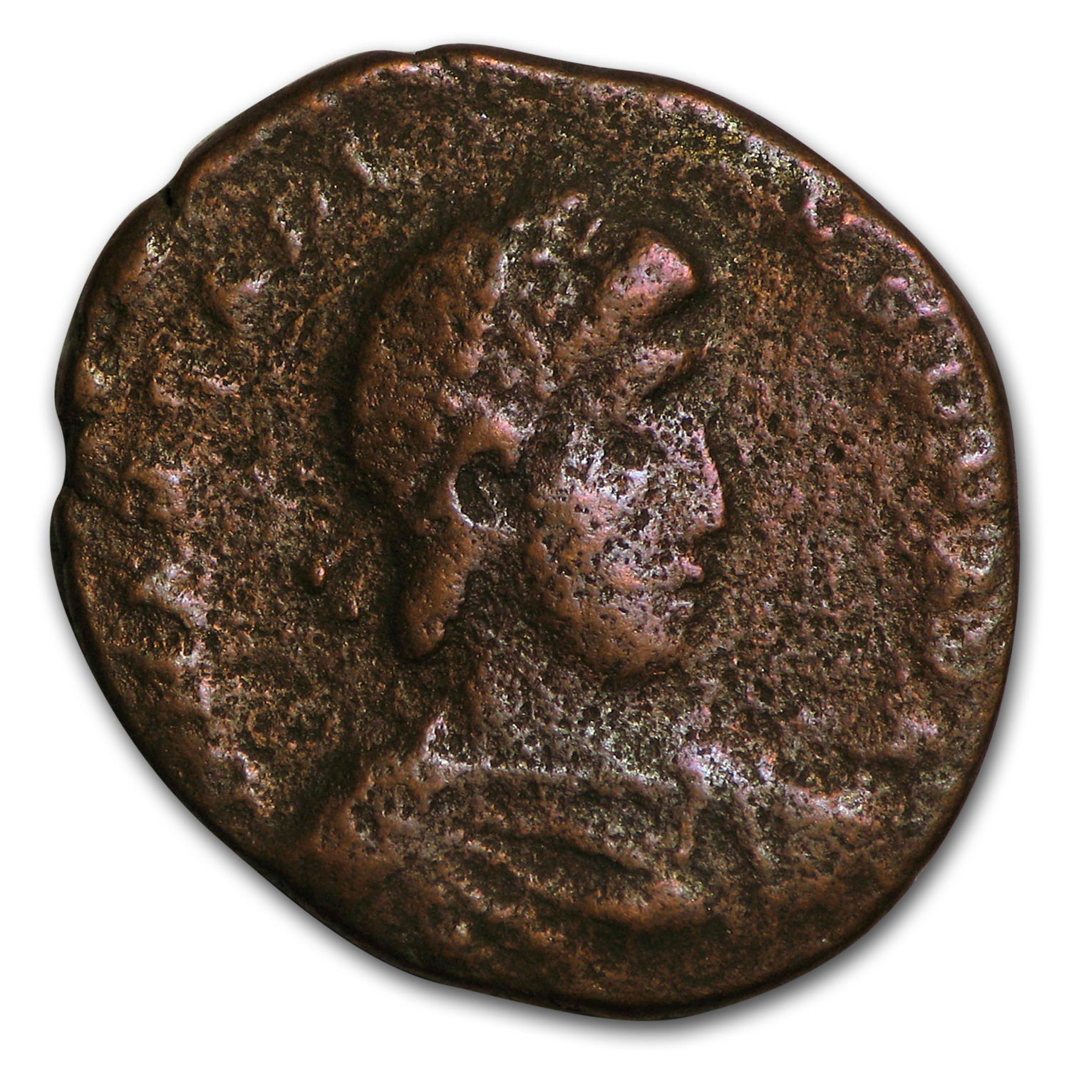 Roman Bronze AE Emperor Arcadius (395-408 AD) Cult of the Madonna