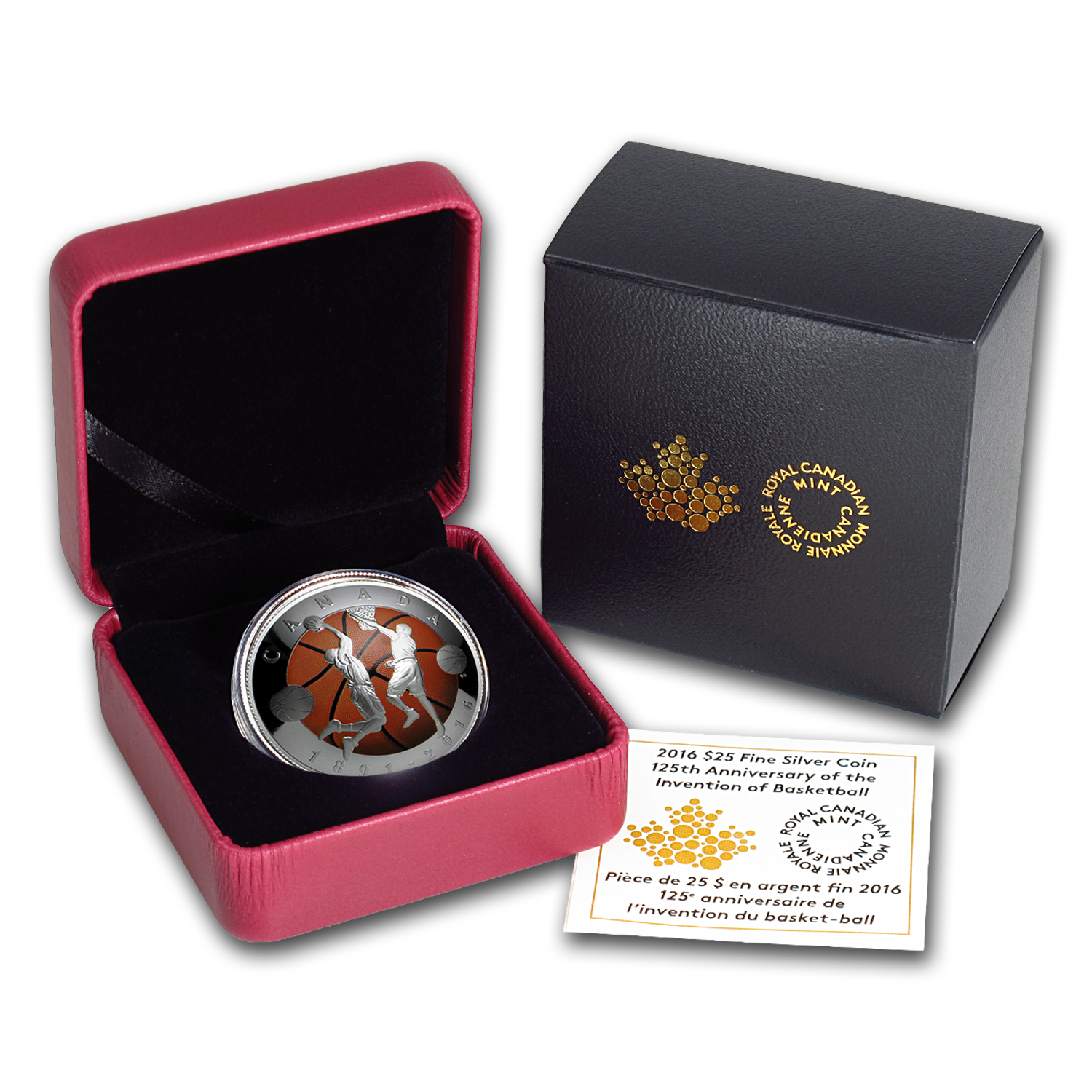 2016 Canada 1 oz Silver $25 Invention of Basketball (Domed Coin)