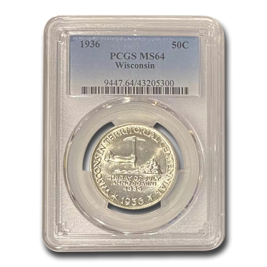 1936 Wisconsin Half Dollar MS-64 PCGS