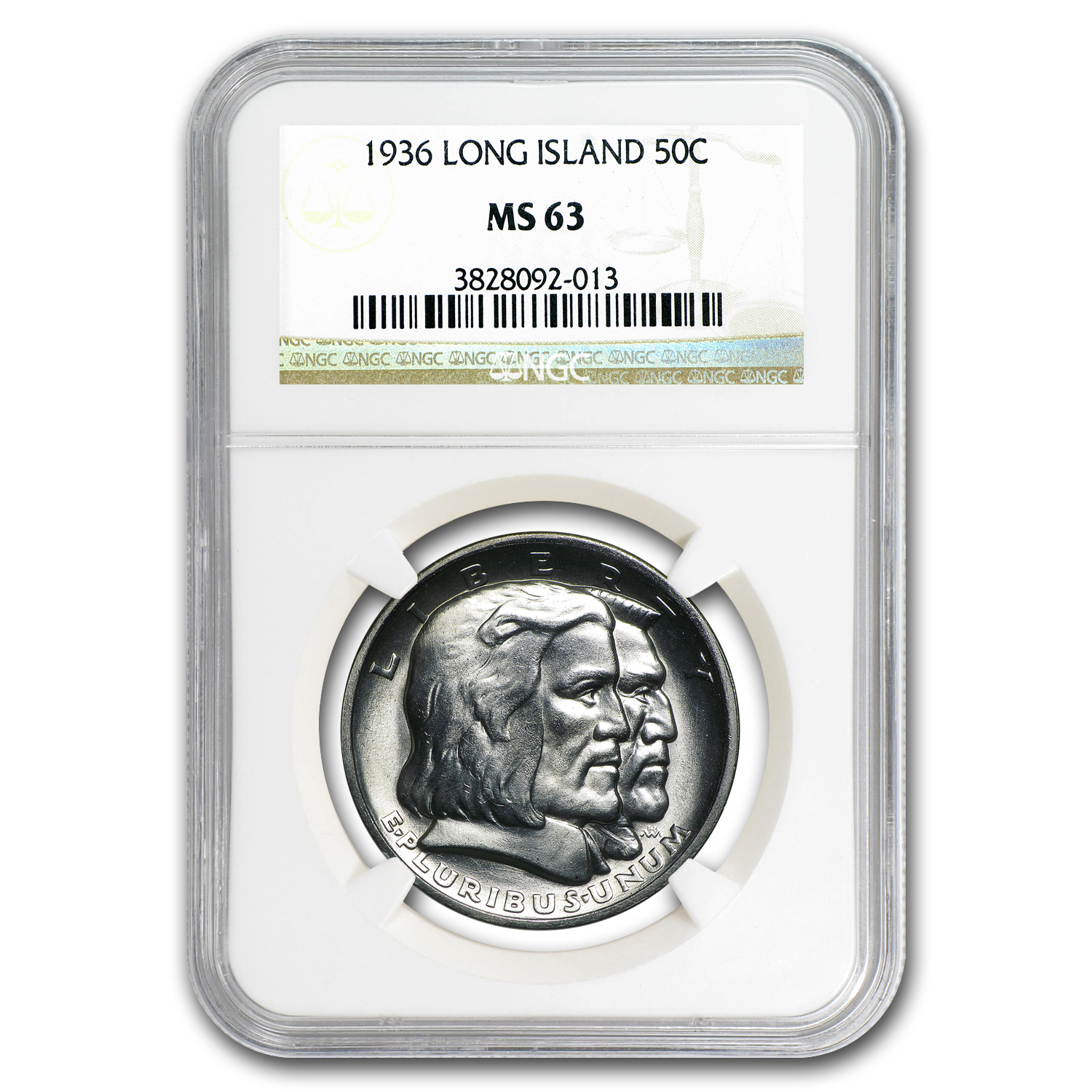 1936 Long Island Tercentenary Half Dollar MS-63 NGC