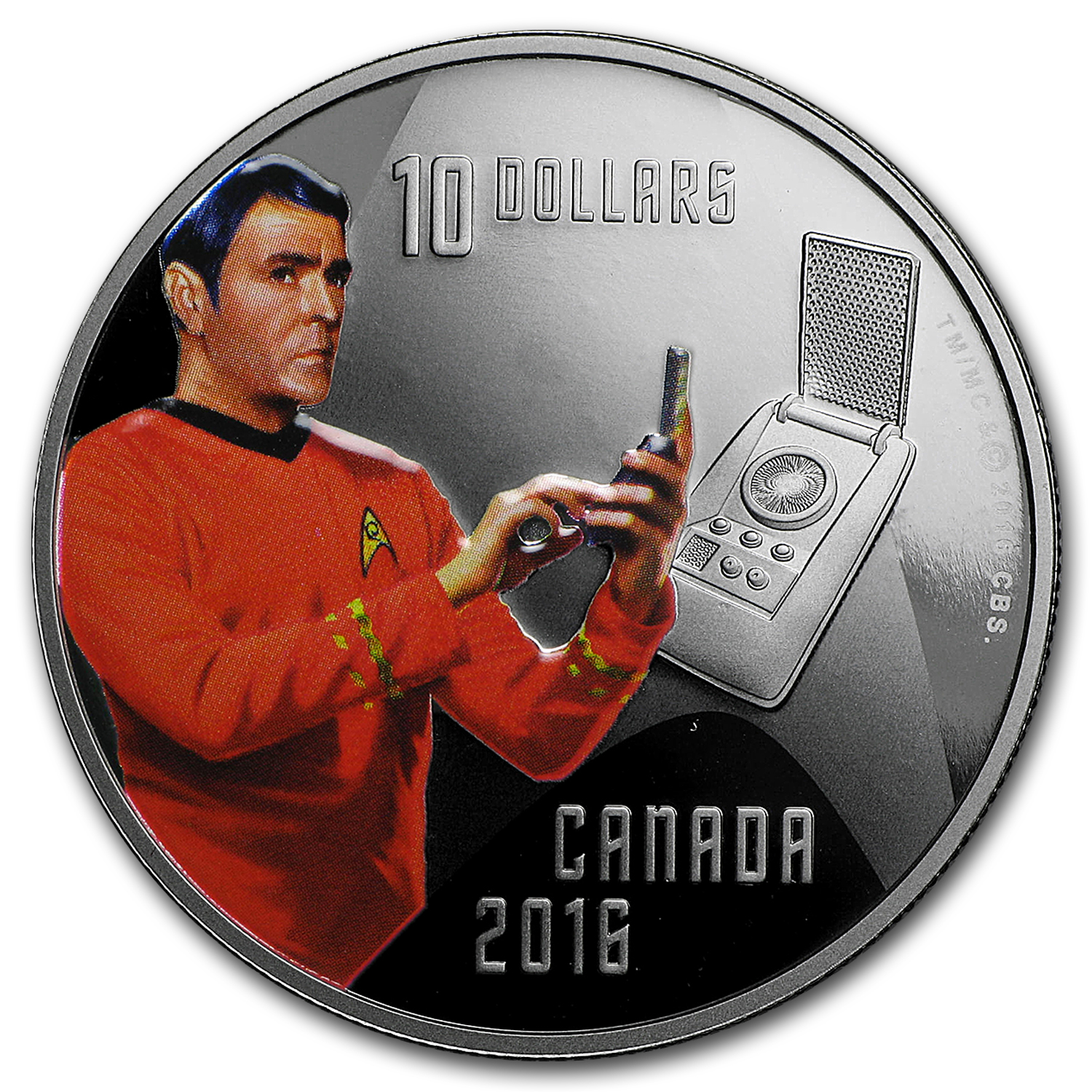 2016 Canada 1/2 oz Silver Proof $10 Star Trek Scotty