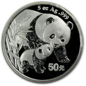 2004 - (5 oz) Silver Panda Proof (W/Box & Coa)