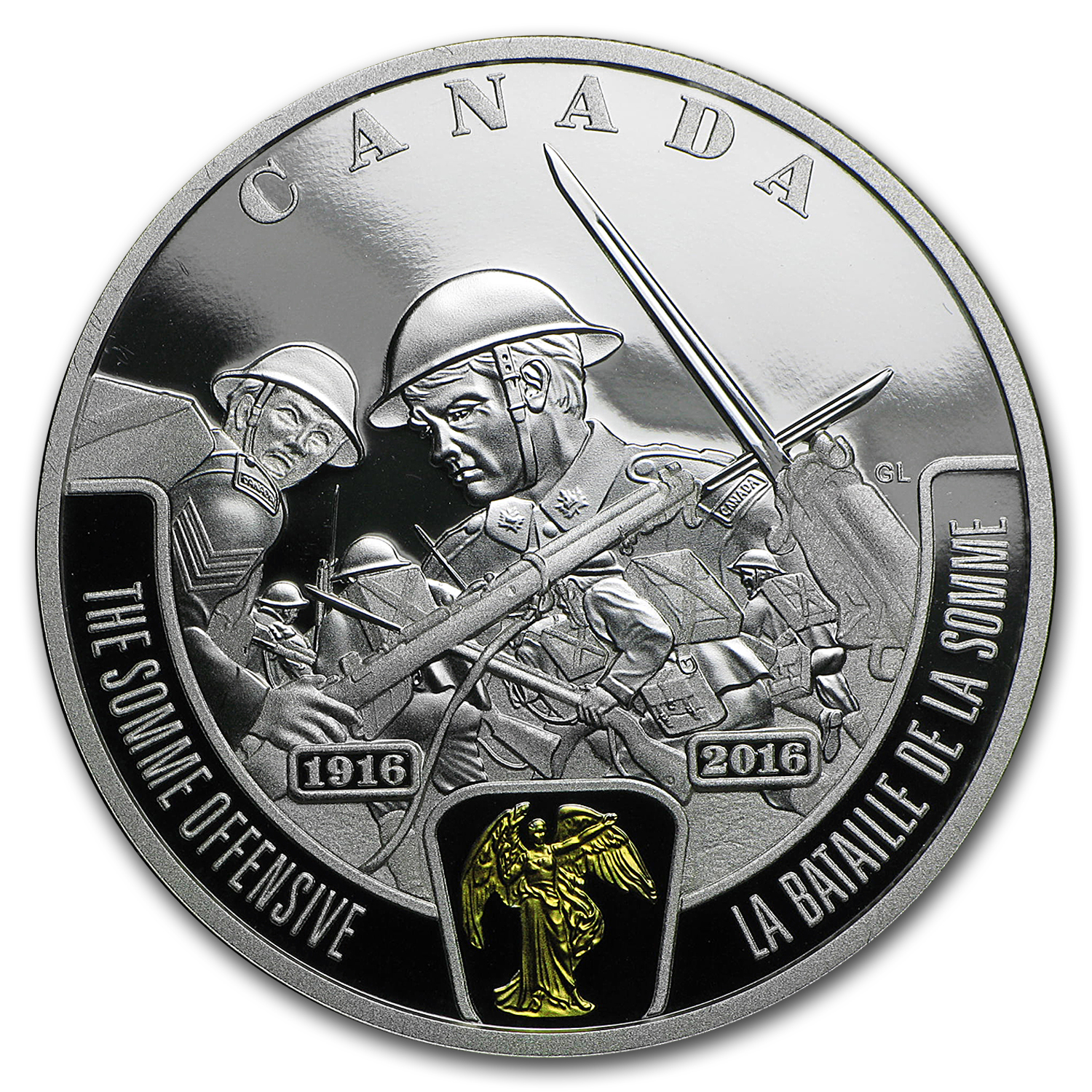 2016 Canada Silver $20 WWI Battlefront Series Somme Offensive