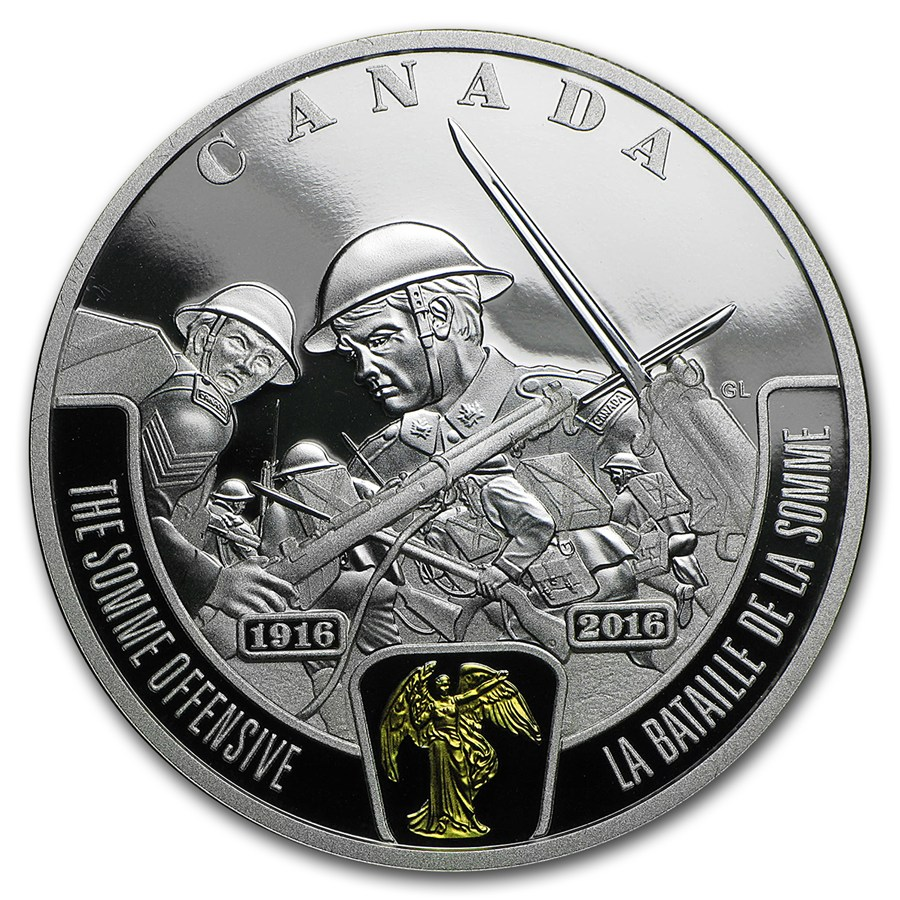 2016 Canada Silver 20 Wwi Battlefront Series Somme