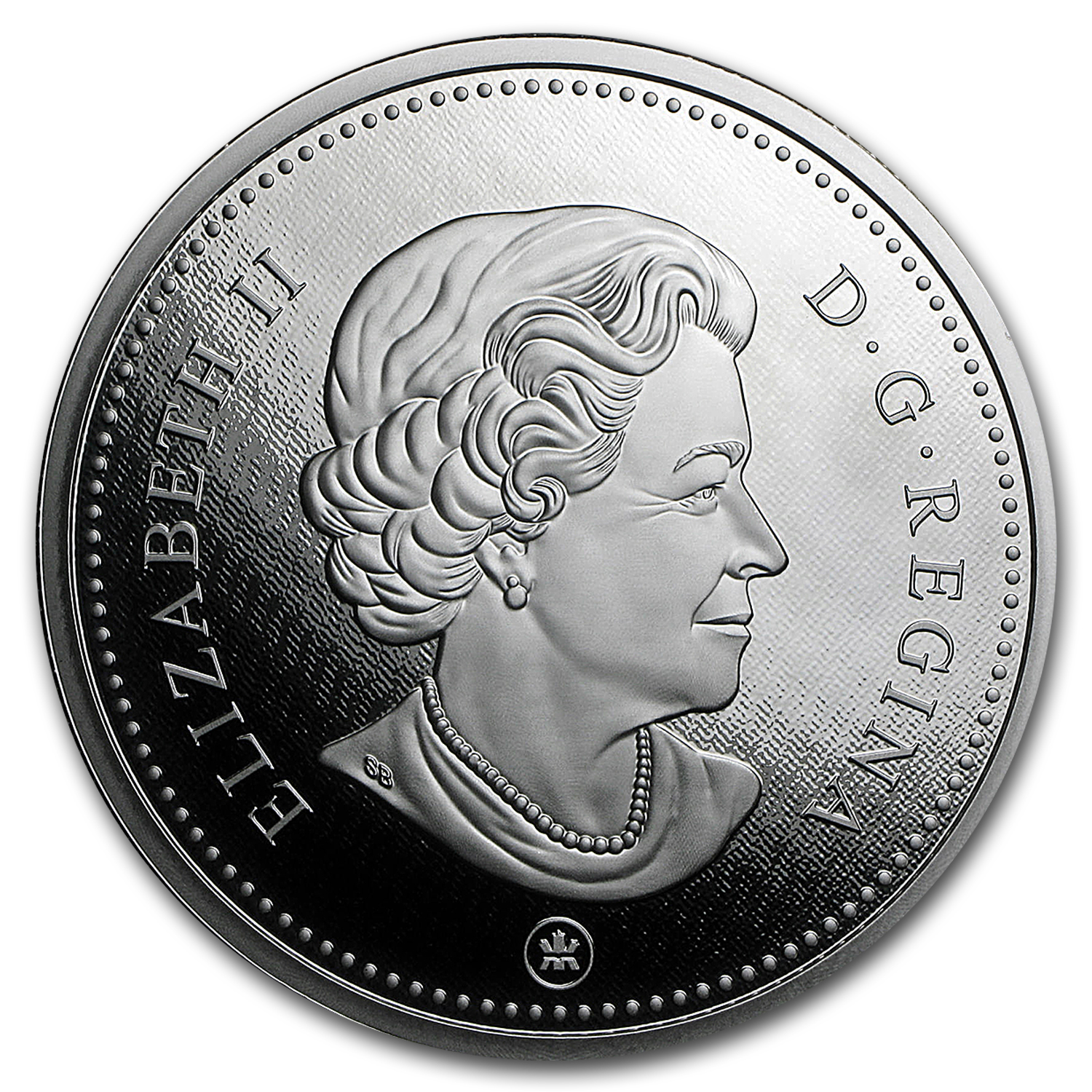 2016 Canada 5 oz Silver $1 Big Coin Series 50 Cent Coin