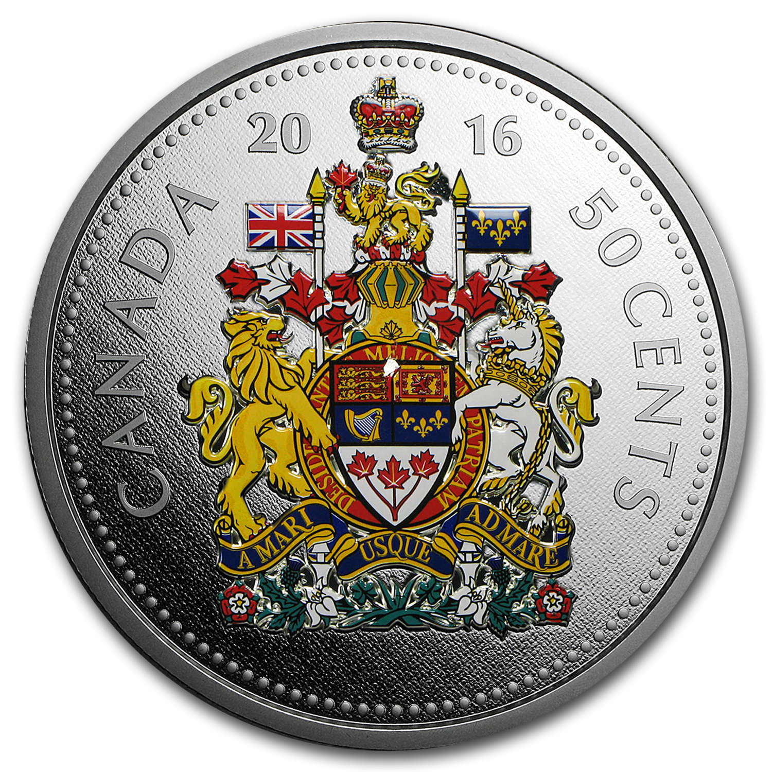 2016 Canada 5 Oz Silver 1 Big Coin Series 50 Cent Coin