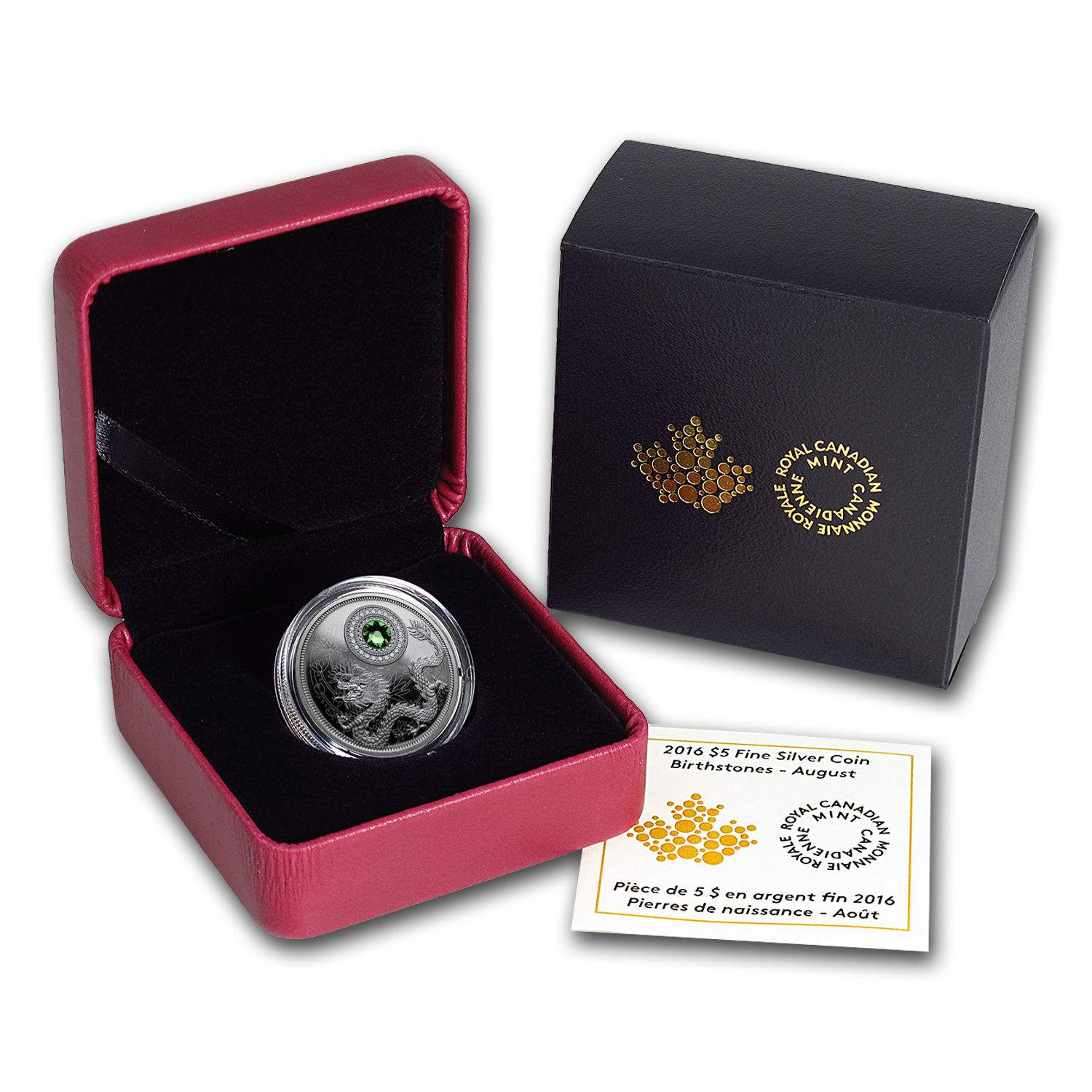 2016 Canada 1/4 oz Silver $5 Birthstones (August)