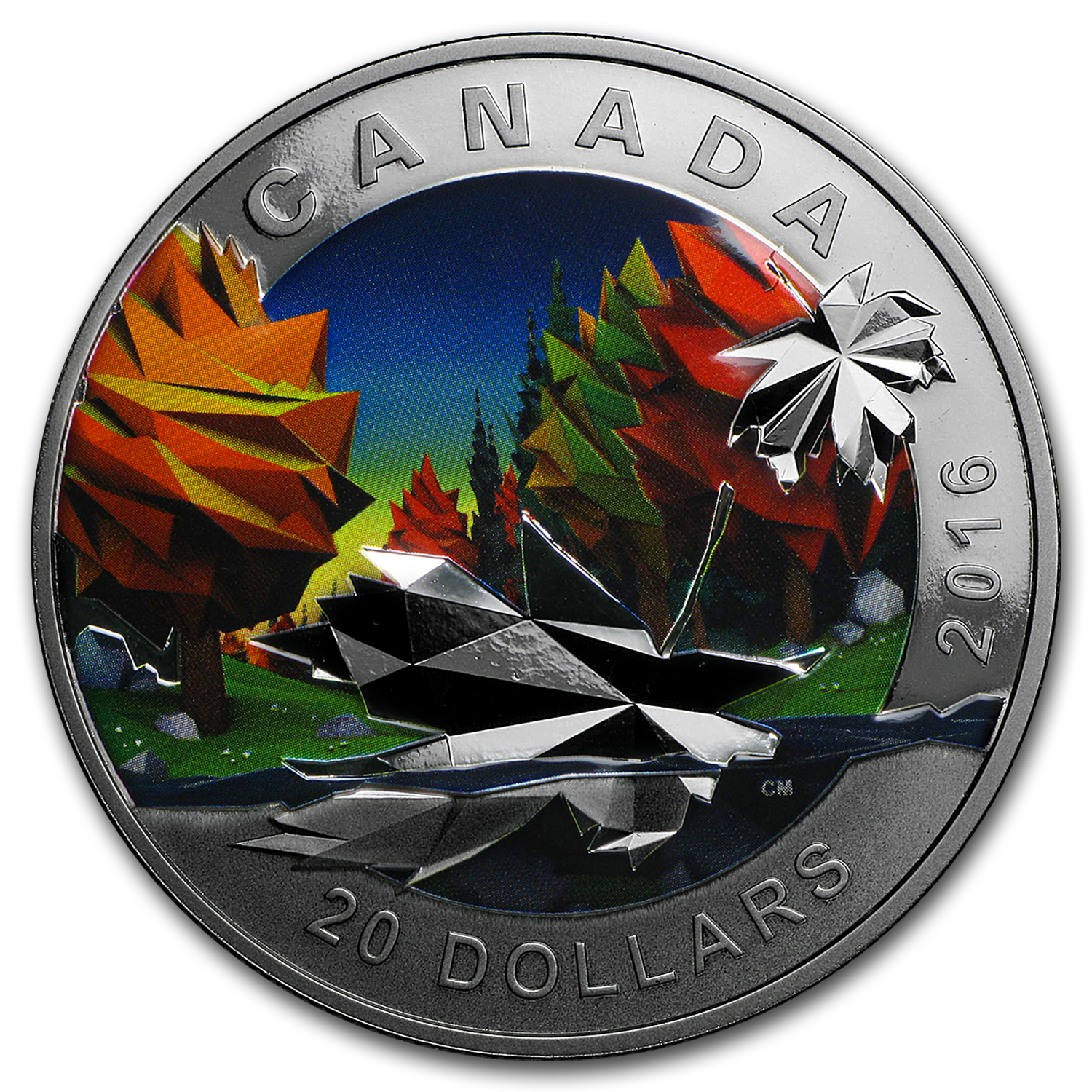 2016 Canada 1 oz Silver Geometry in Art: The Maple Leaf