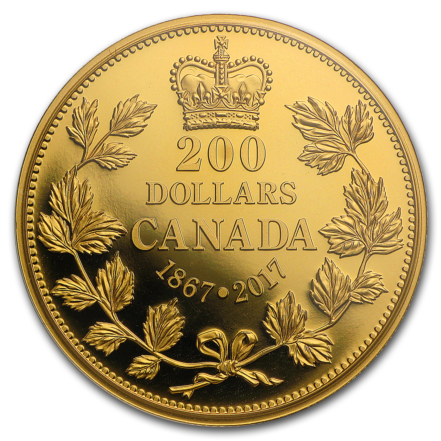 2016 Canada 1 oz Proof Gold $200 150 Years of Passion: Maple Leaf