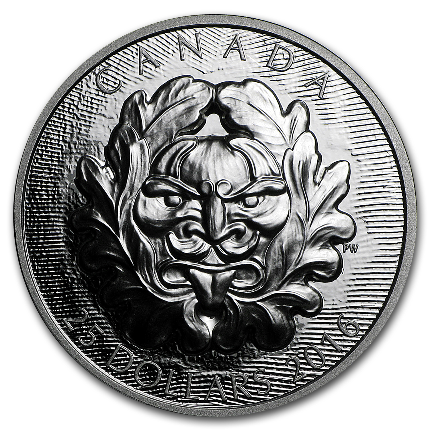 2016 Canada 1 oz Silver $25 Art of Parliament: Horned Green Man