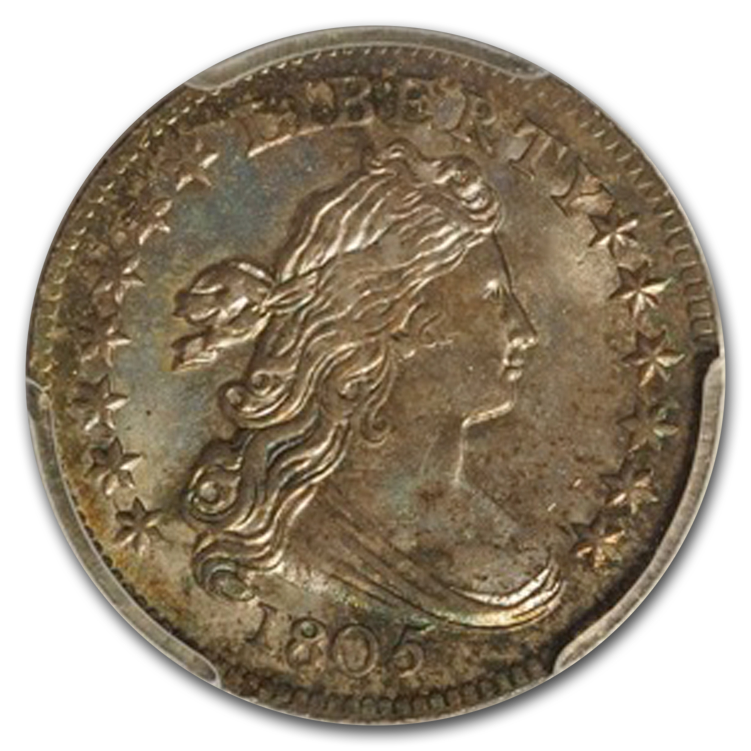 1805 Draped Bust Dime, 4 Berries, MS-66+ PCGS (CAC)