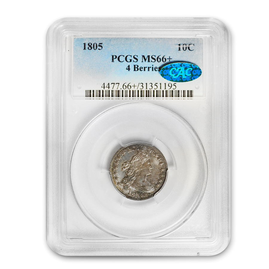 1805 Draped Bust Dime 4 Berries MS-66+ PCGS (CAC)
