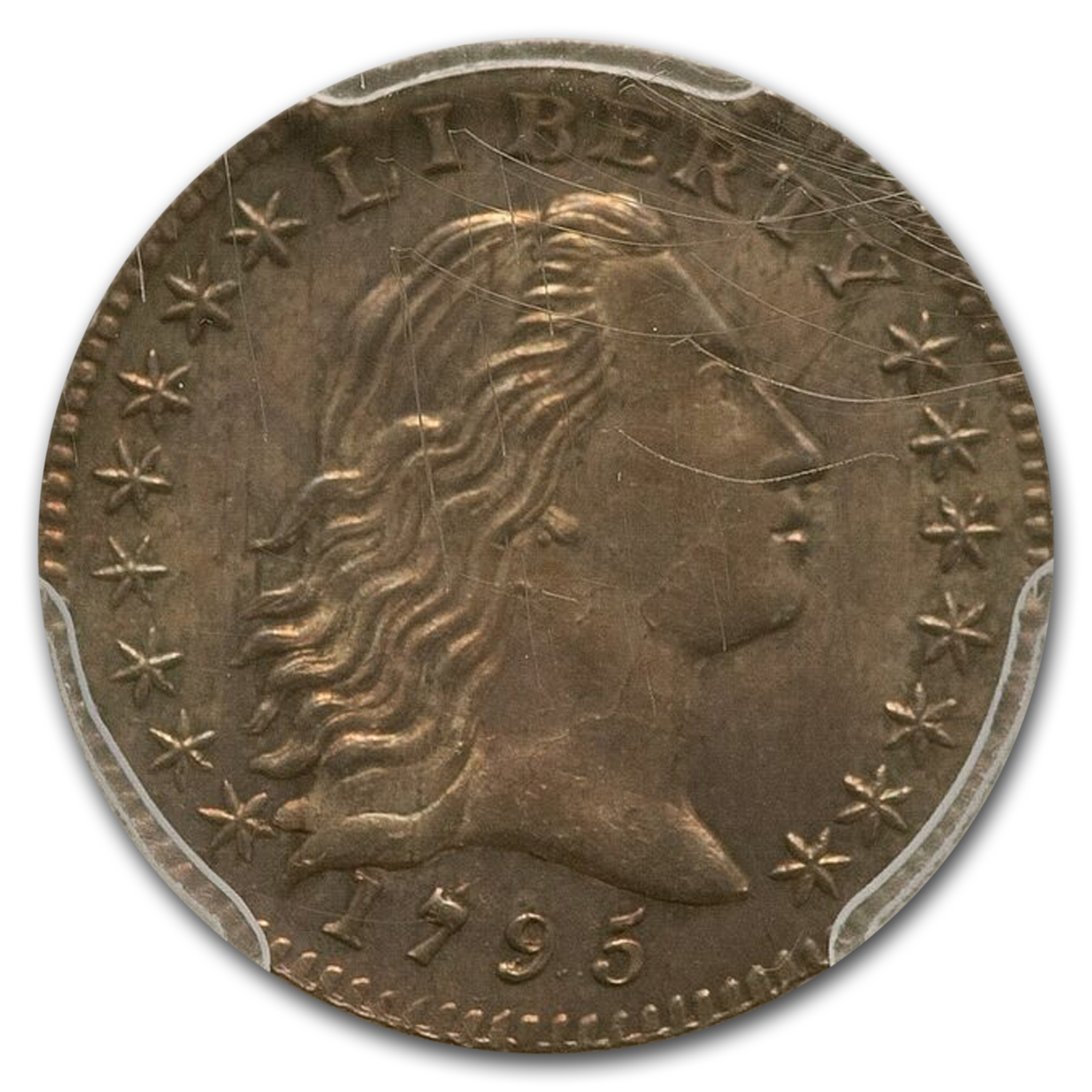 1795 Flowing Hair Half Dime V-4, MS-65 PCGS