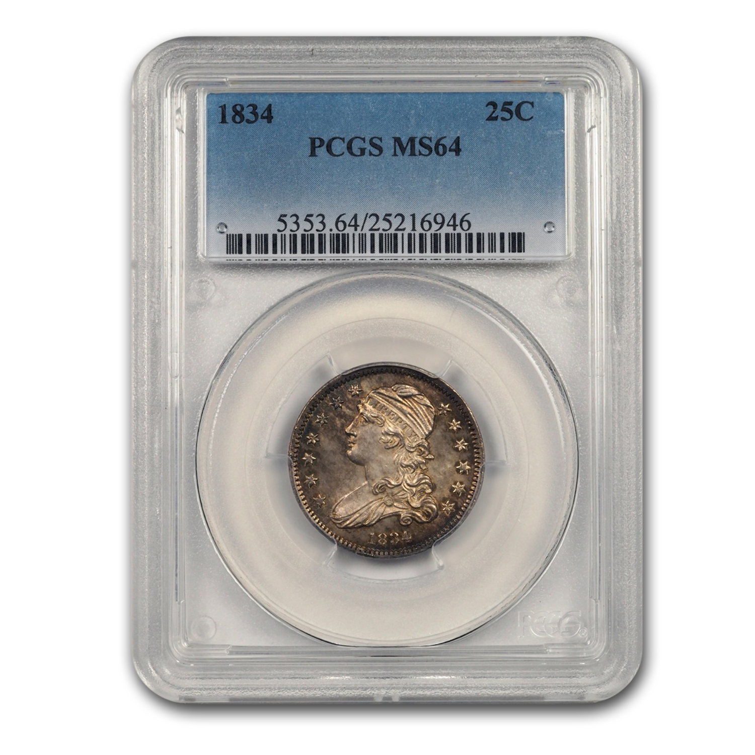 1834 Capped Bust Quarter Dollar MS-66 NGC