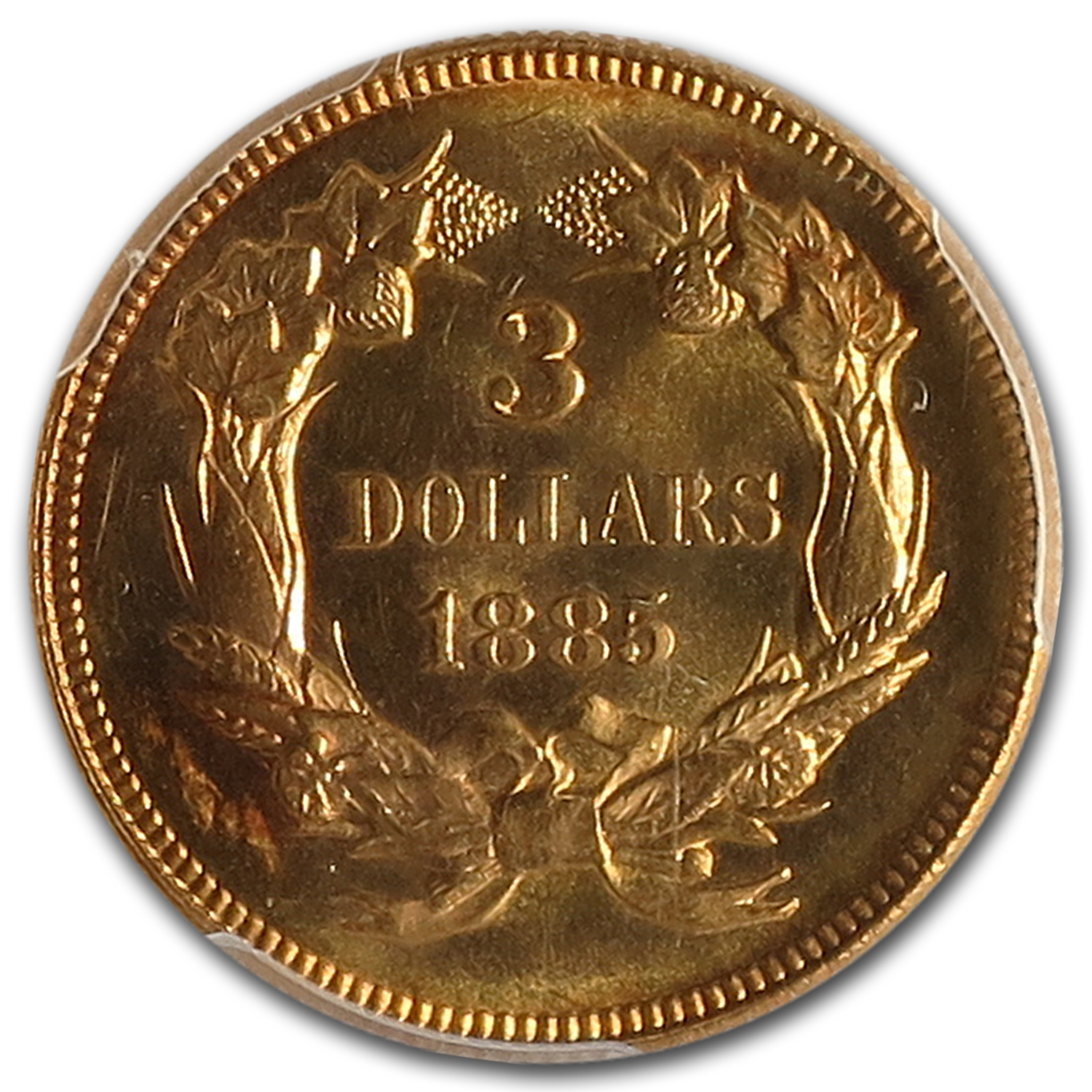 1885 $3 Gold Princess MS-65+ PCGS