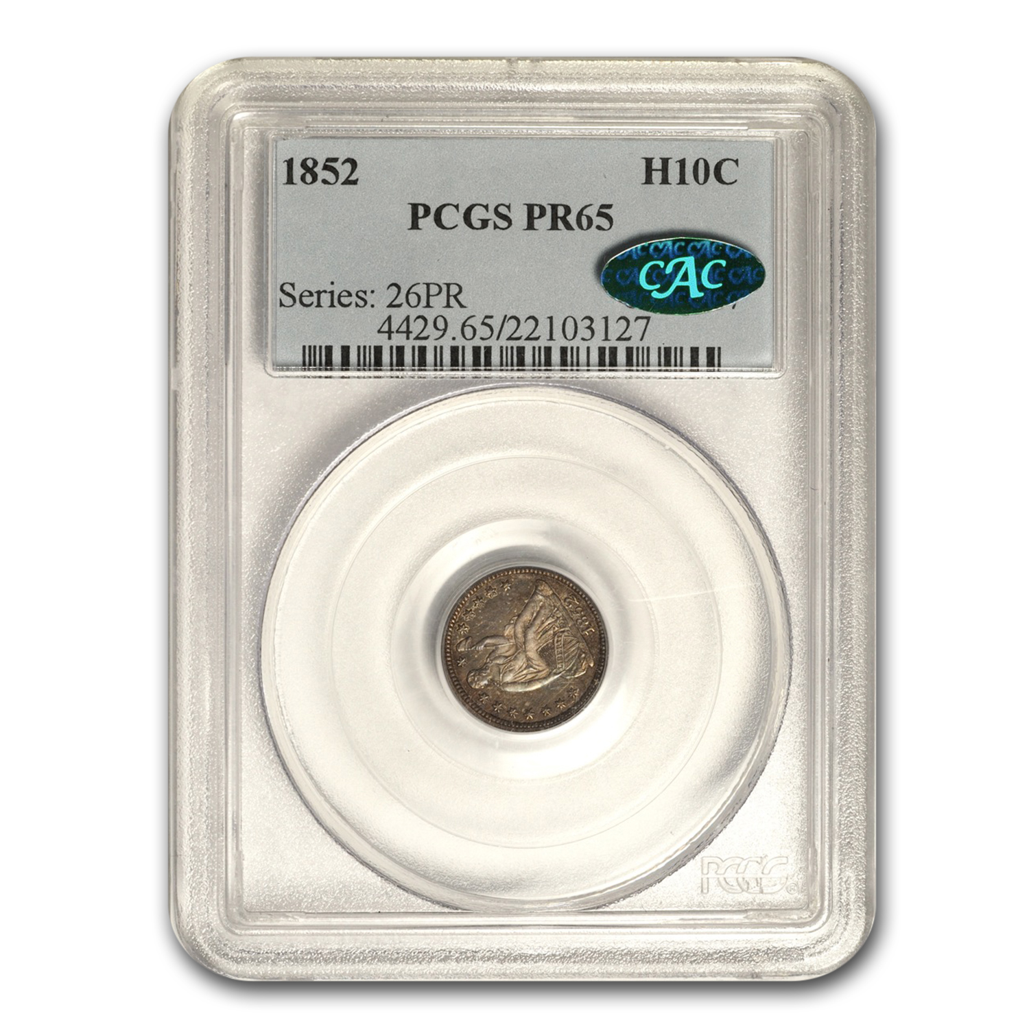 1852 Liberty Seated Half Dime Proof-65 PCGS (CAC)