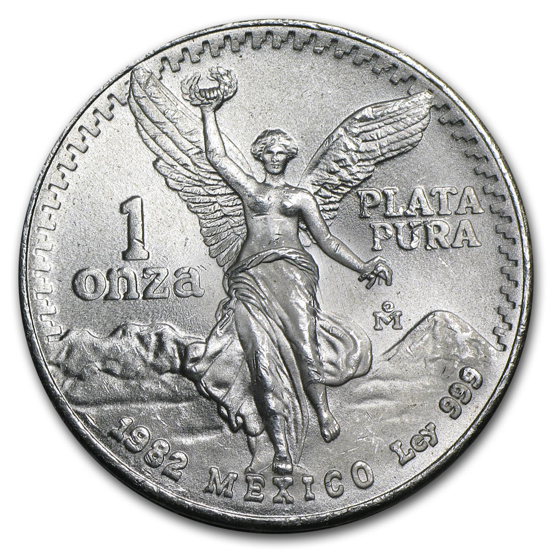 1982 Mexico 1 Oz Silver Libertad Bu 1 Oz Silver