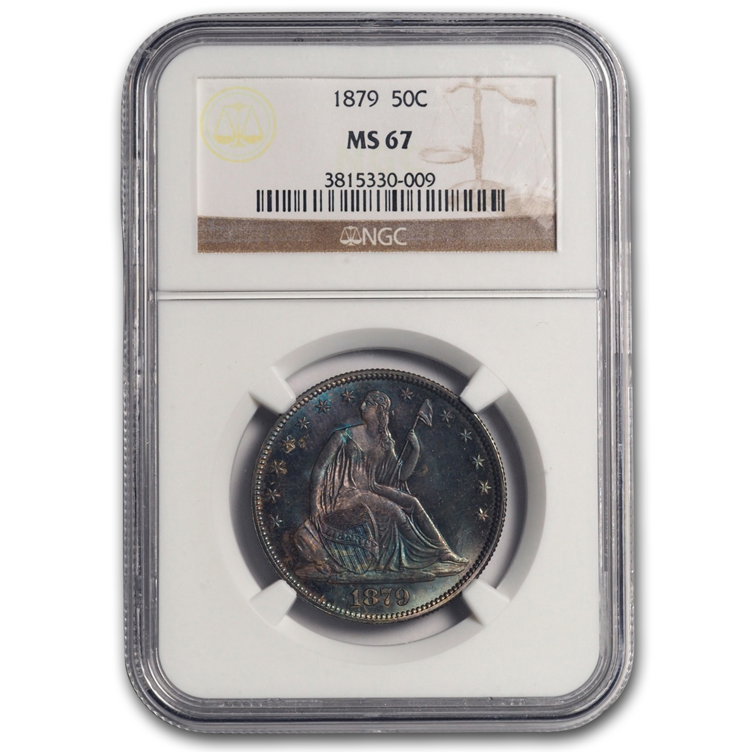 1879 Liberty Seated Half Dollar MS-67 NGC