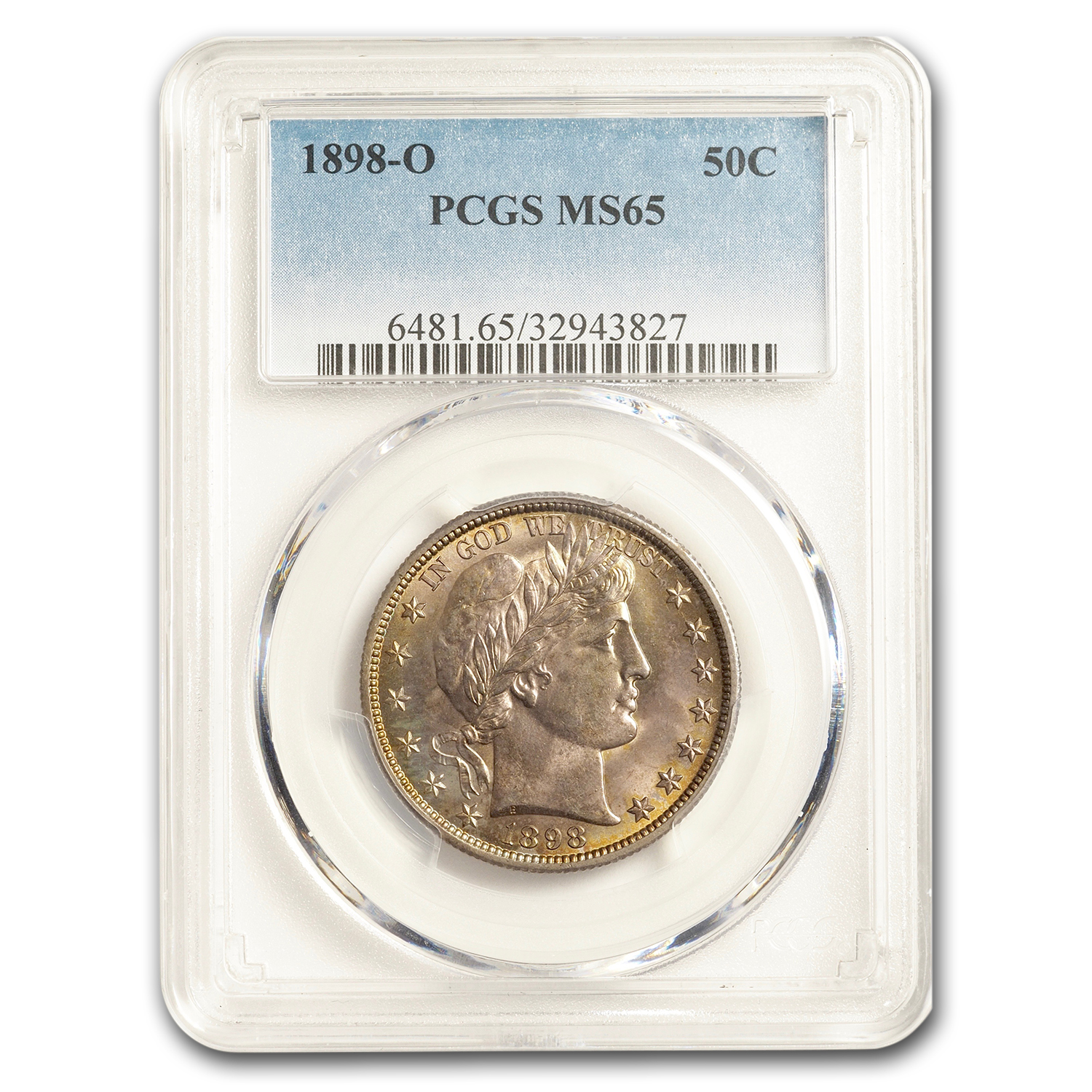 1898-O Barber Half Dollar MS-65 PCGS