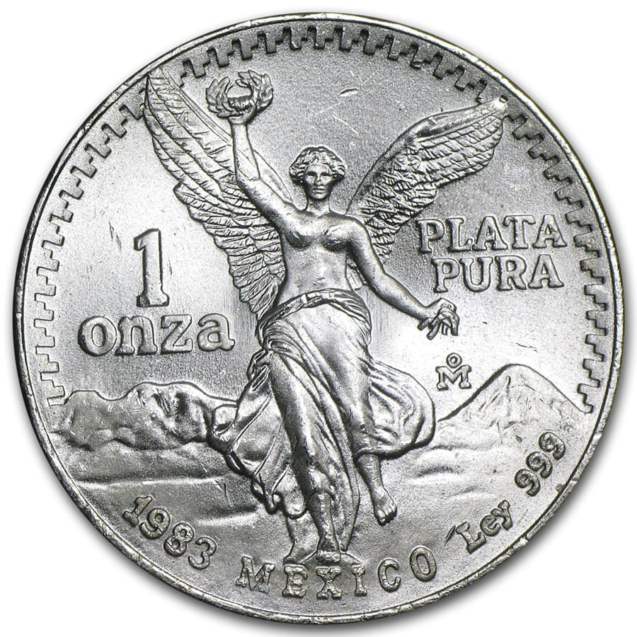 1983 Mexico 1 Oz Silver Libertad Bu 1 Oz Silver