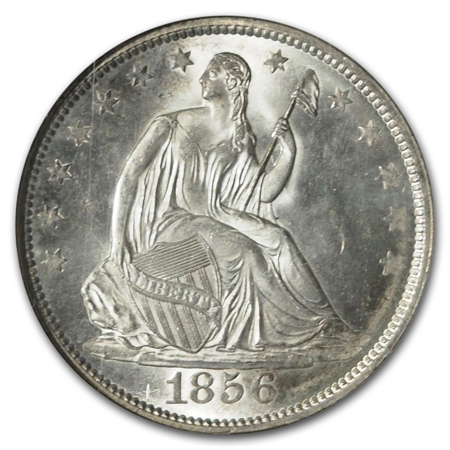 1856 Liberty Seated Half Dollar MS-65 NGC (CAC, WB-101)
