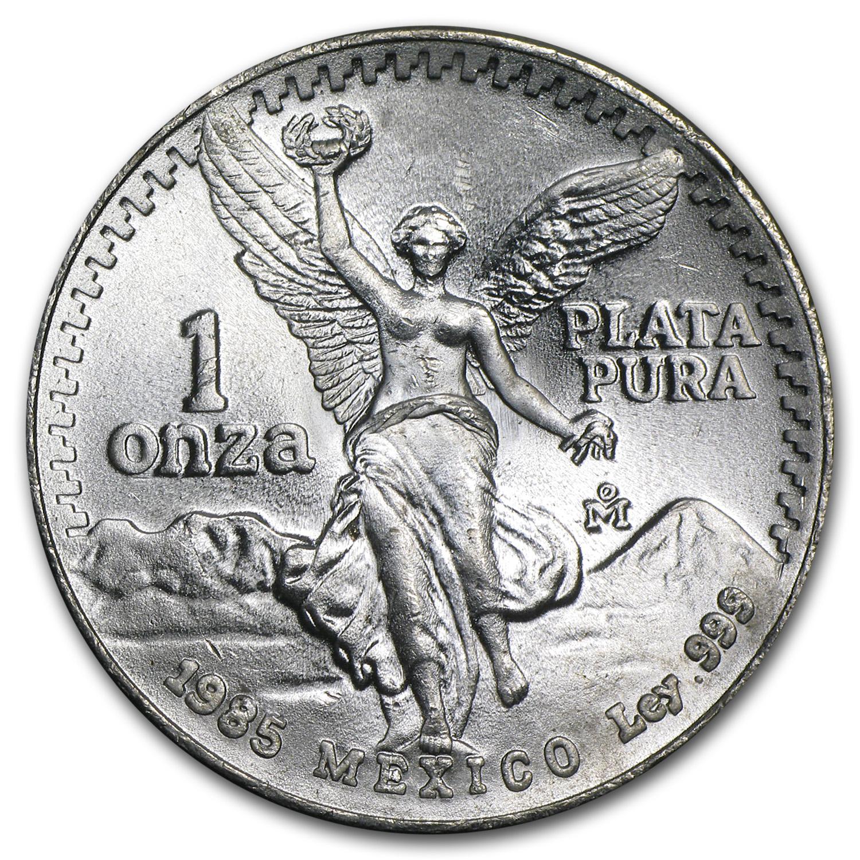 1985 Mexico 1 Oz Silver Libertad Bu 1 Oz Silver