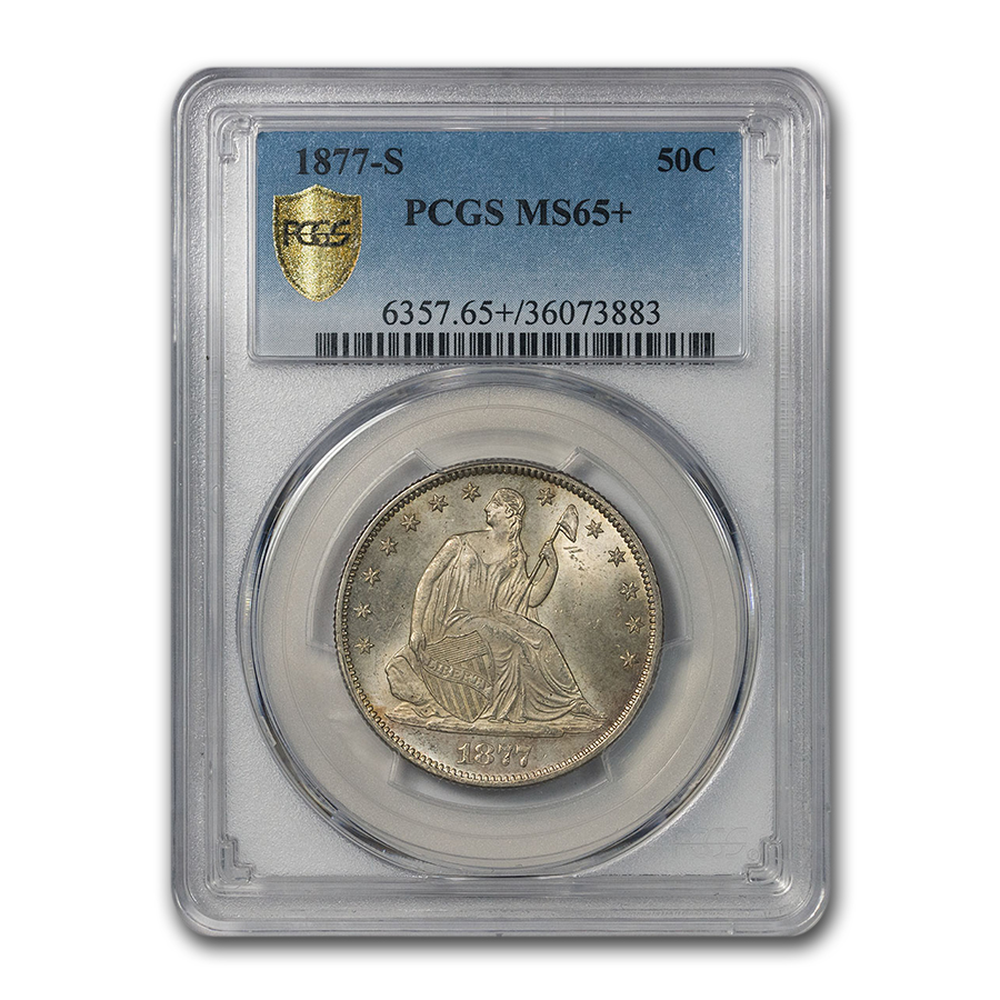 1877-S Libery Seated Half Dollar MS-65+ PCGS (Open Bud, Small S)