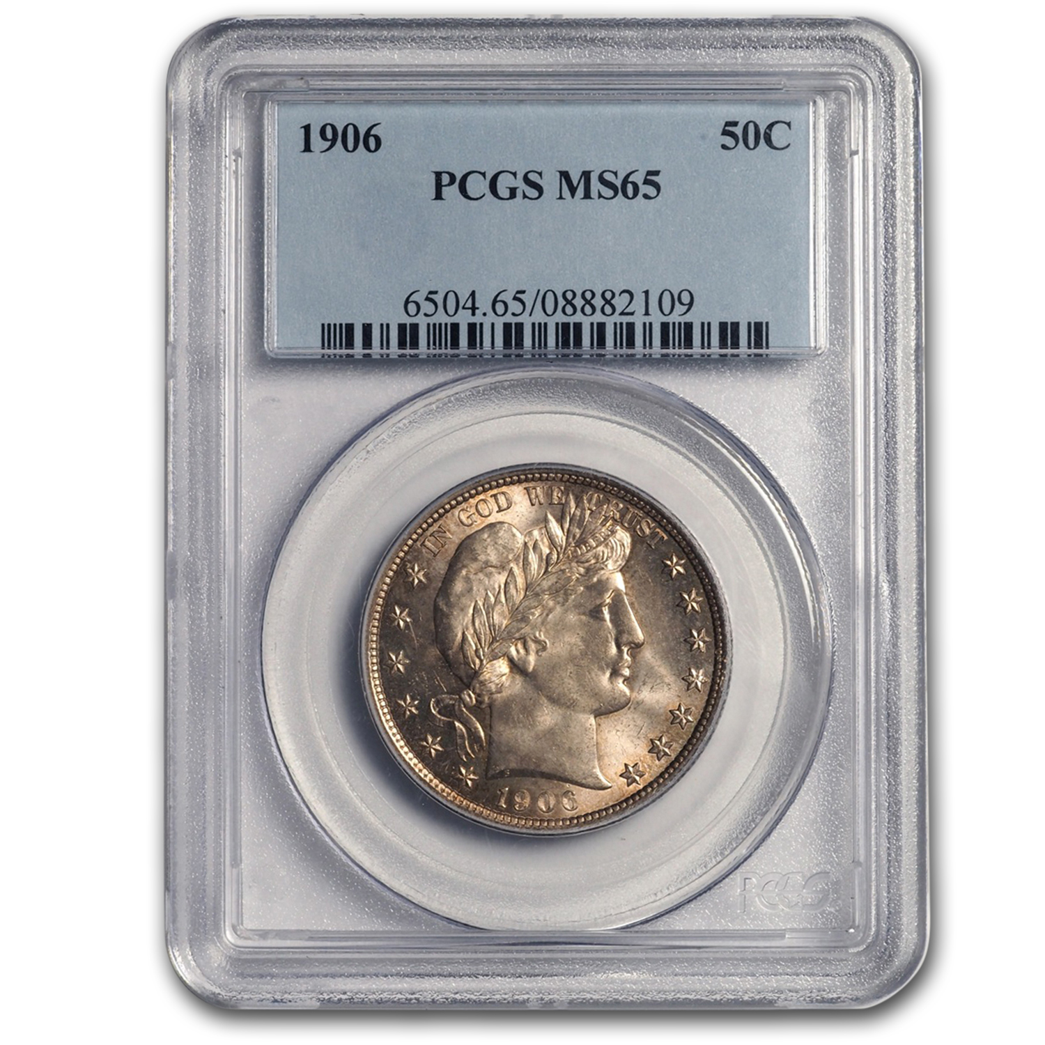 1906 Barber Half Dollar MS-65 PCGS