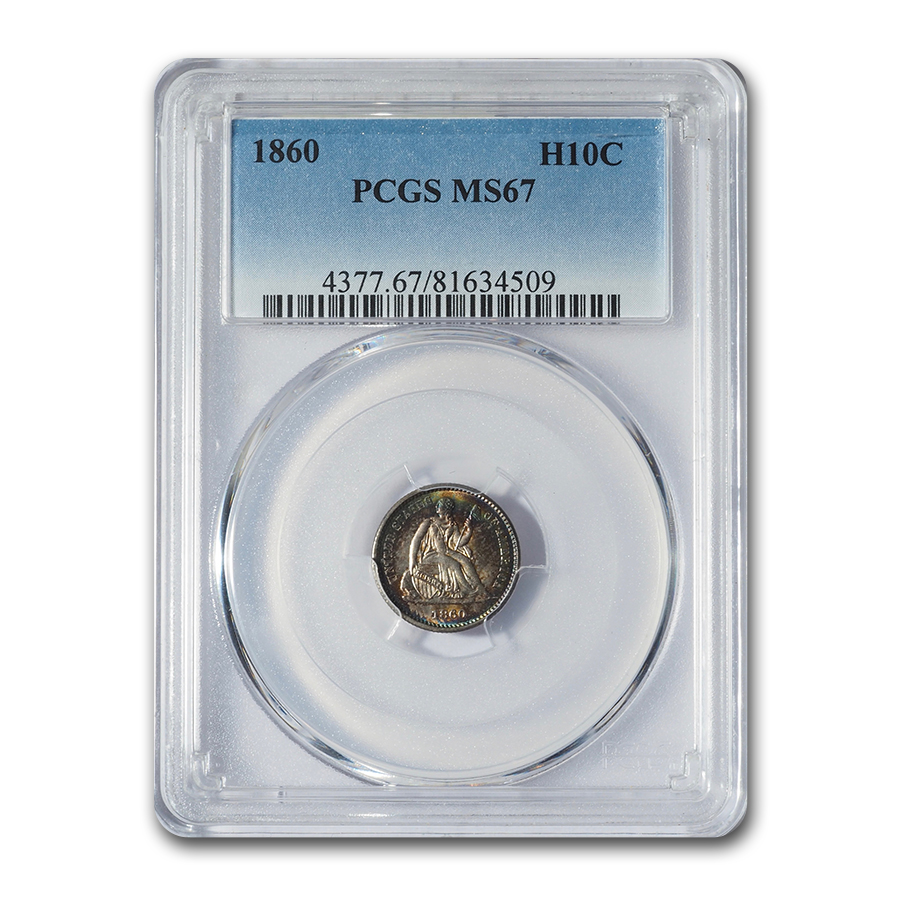 1860 Liberty Seated Half Dime MS-67 PCGS