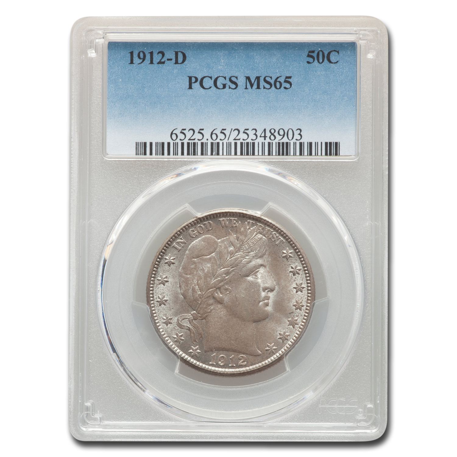 1912-D Barber Half Dollar MS-65 PCGS