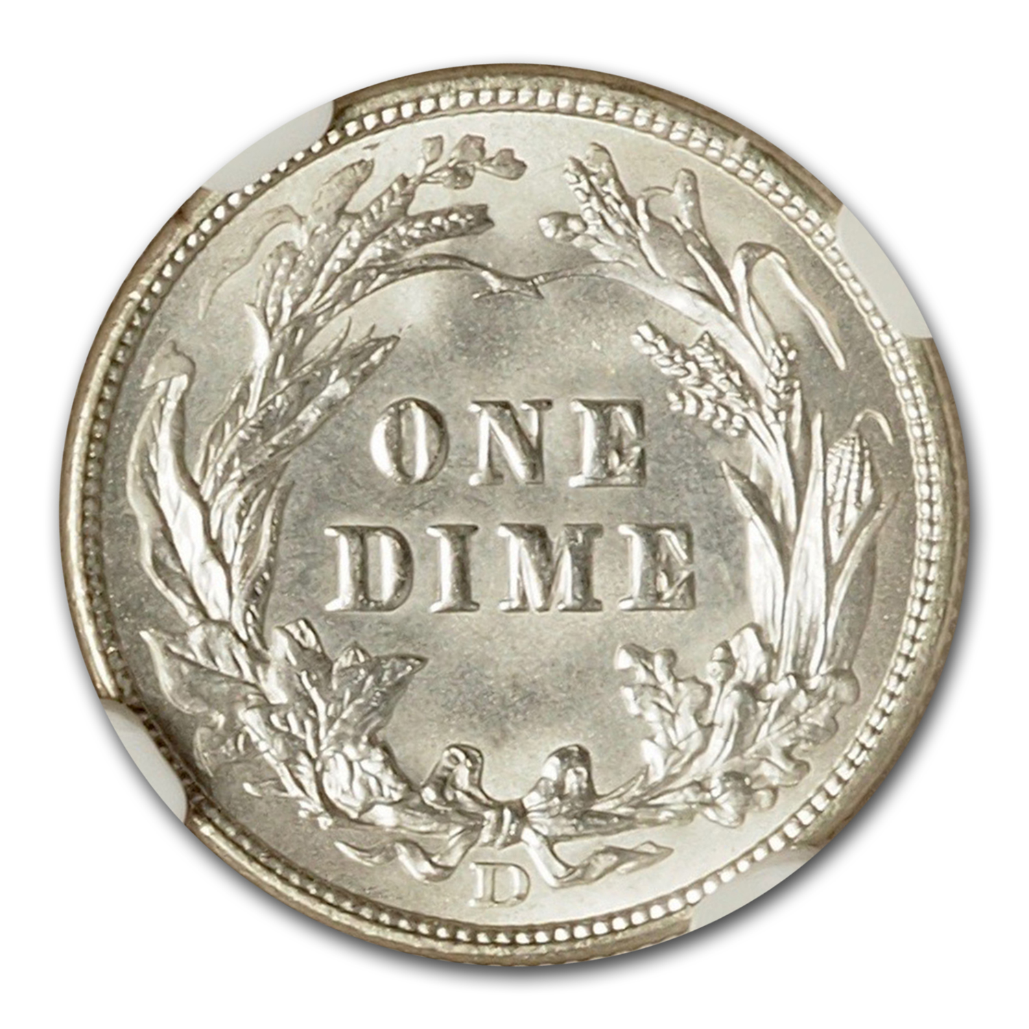 1907-D Barber Dime MS-65 NGC