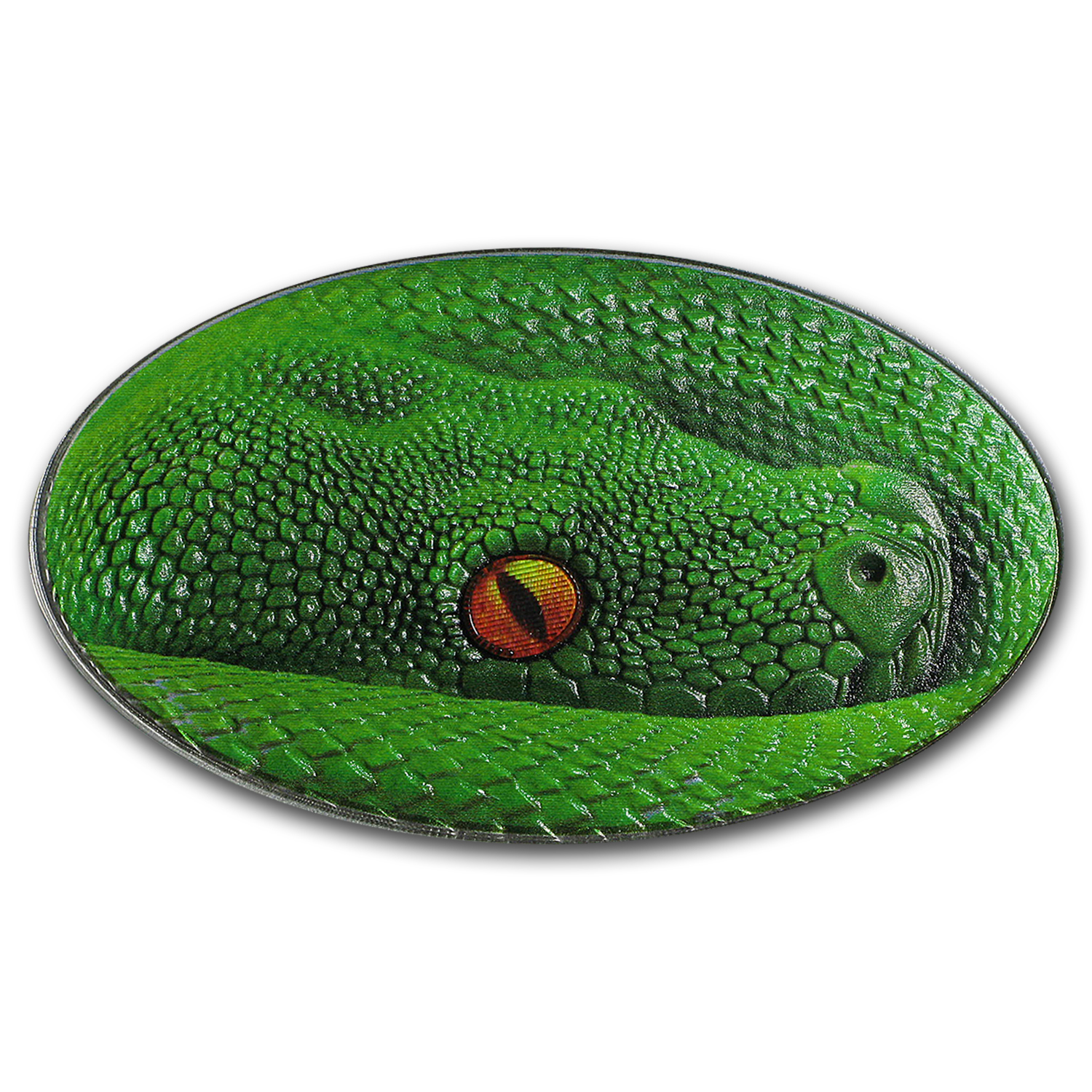 2016 Niue 1 oz Silver Animal Skin Green Tree Python