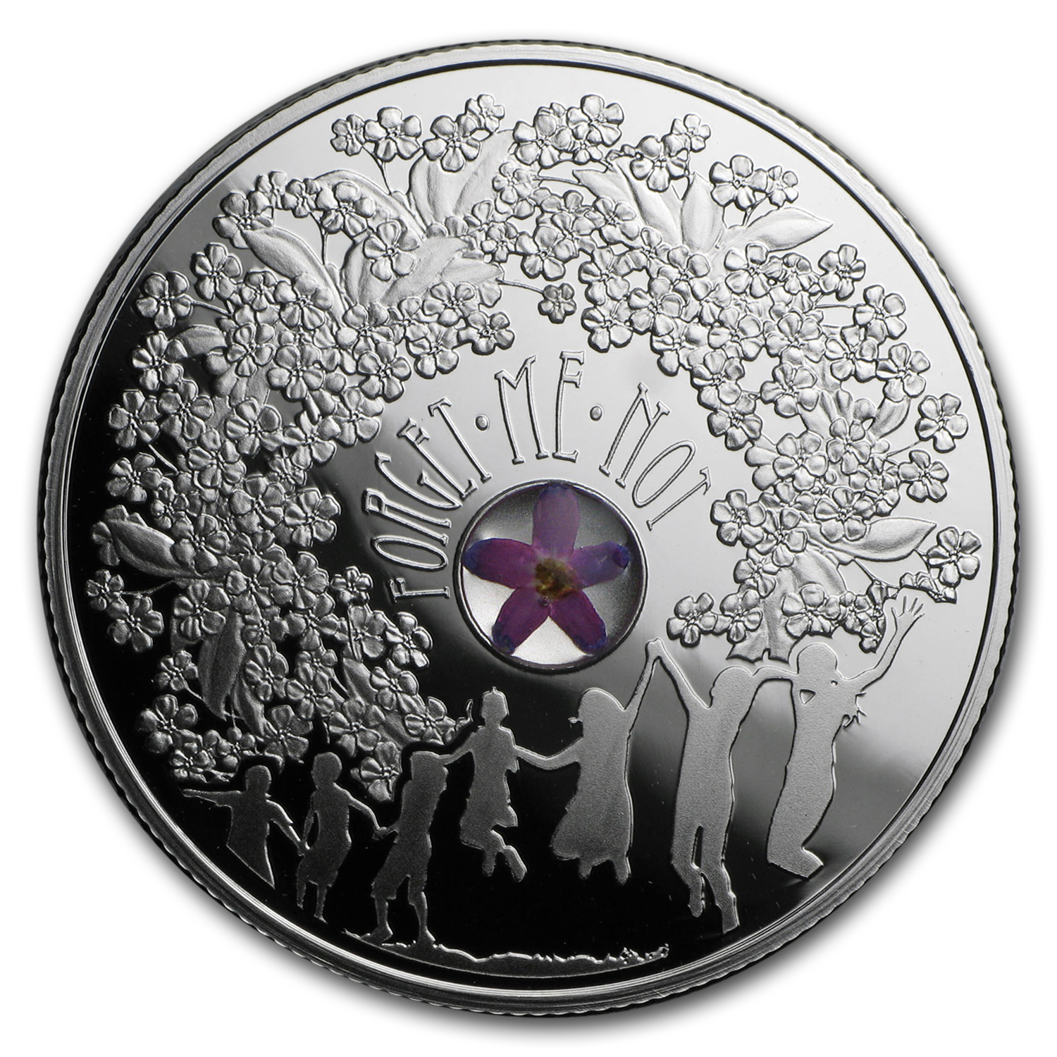 2014 Niue Silver $1 Forget-Me-Not