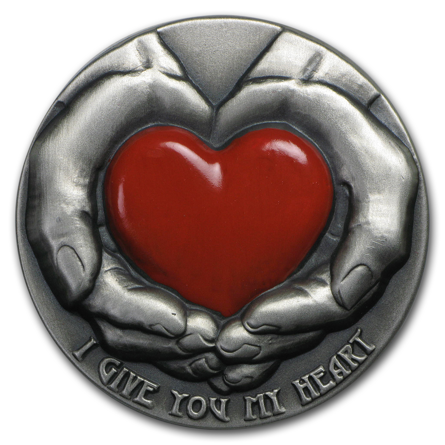 2016 Niue 3 oz Silver $5 Max-Emotions Heart (Colorized)