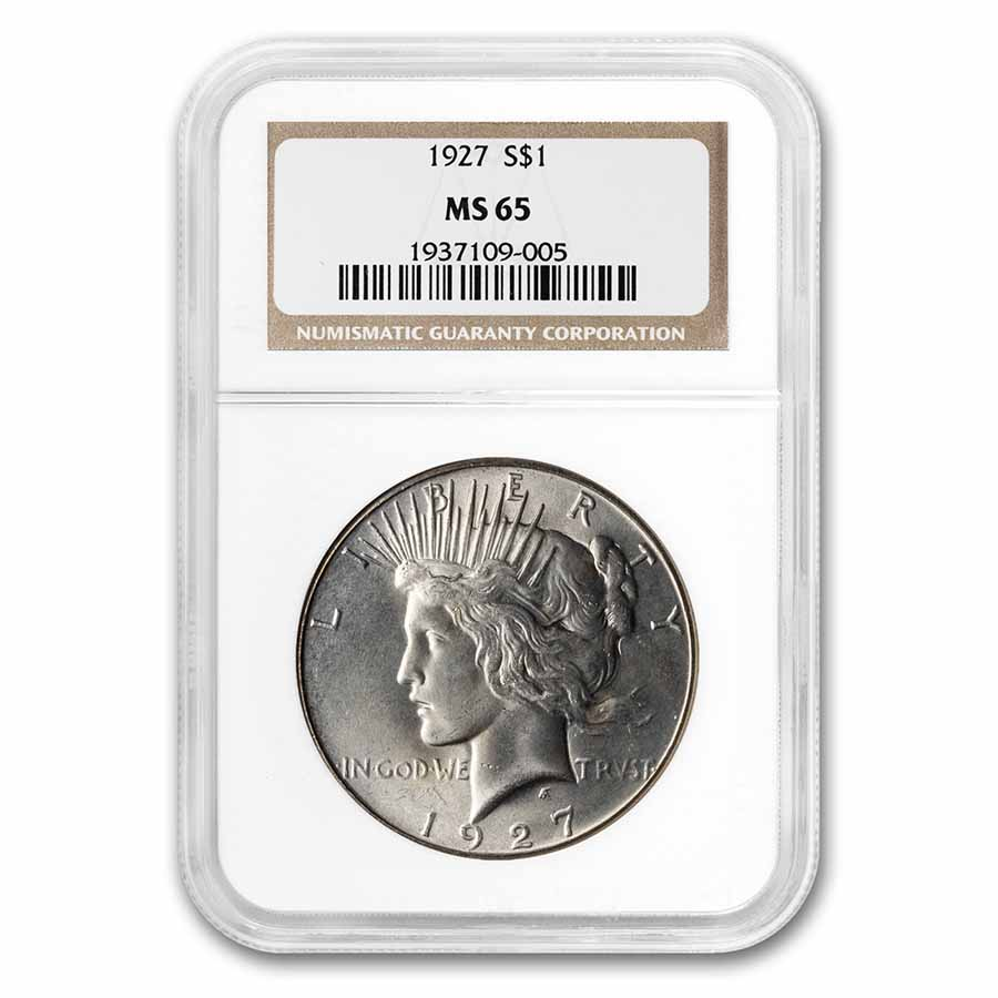 1927 Peace Dollar MS-65 NGC