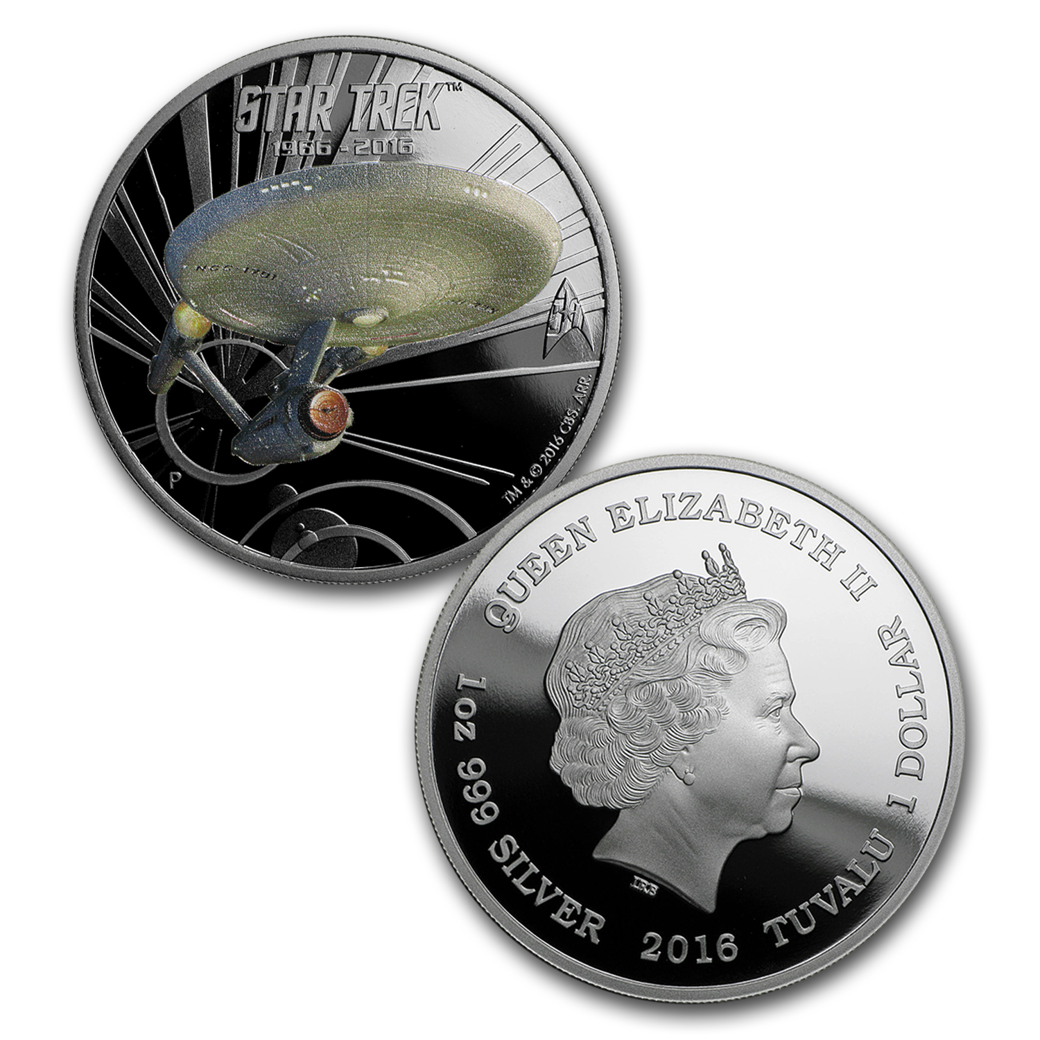2016 Tuvalu 2-Coin 1 oz Silver Star Trek Proof Set