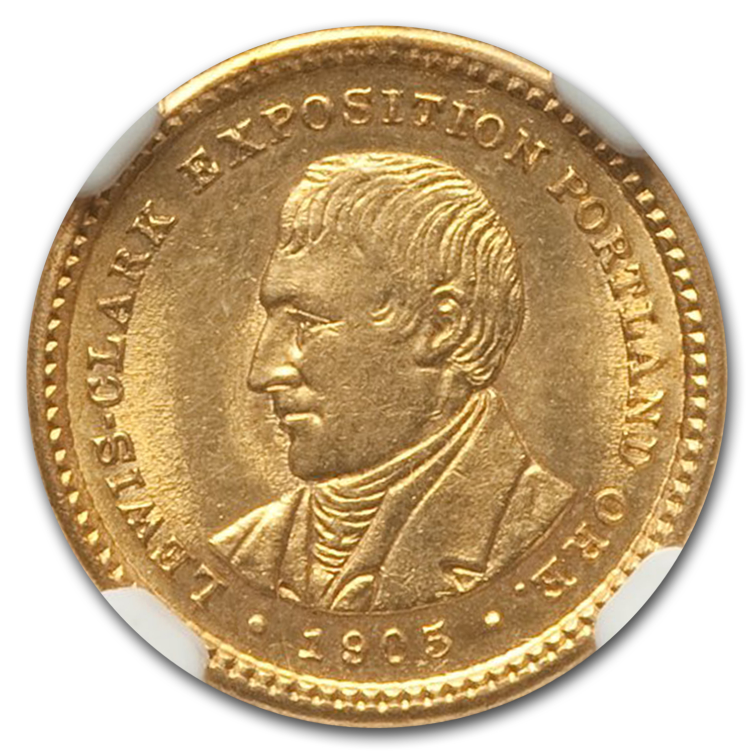 1905 Gold $1.00 Lewis and Clark Exposition MS-63 NGC
