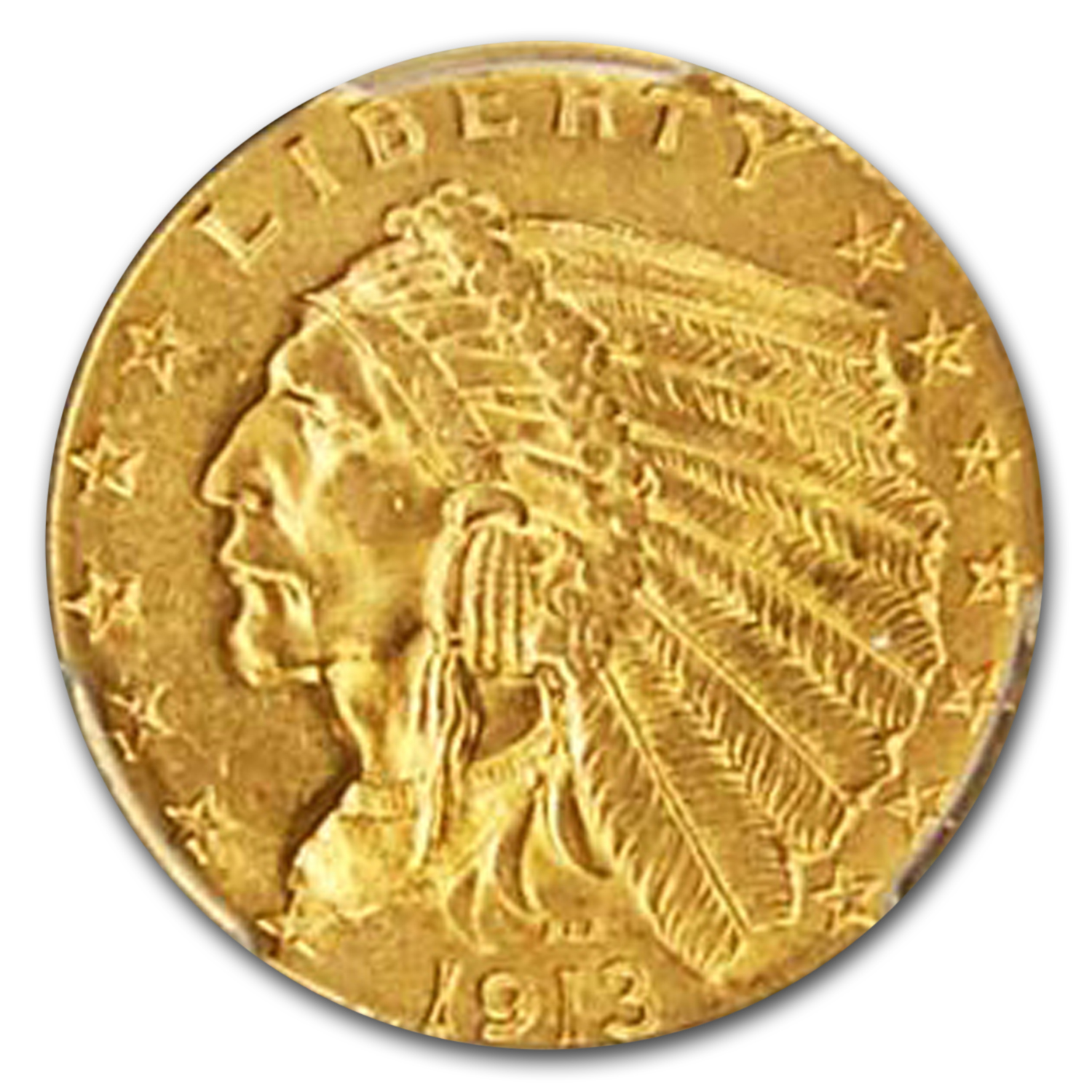 1913 $2.50 Indian Gold Quarter Eagle MS-64 PCGS