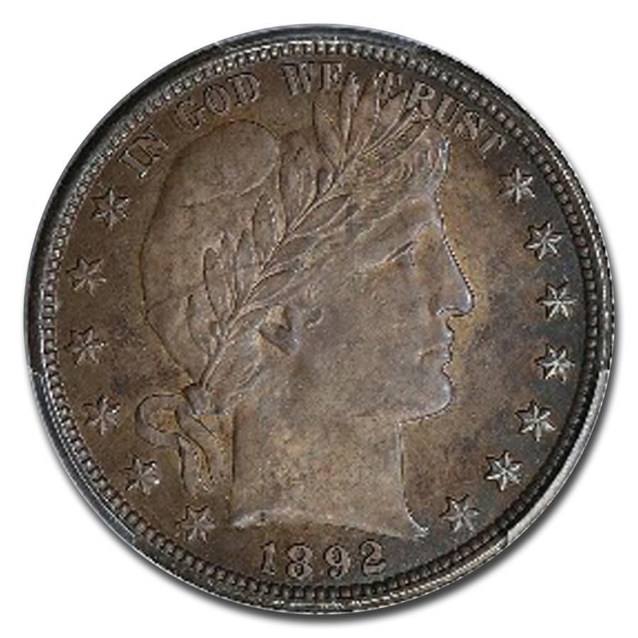 1892 Barber Half Dollar Ms 65 Pcgs Recently Added