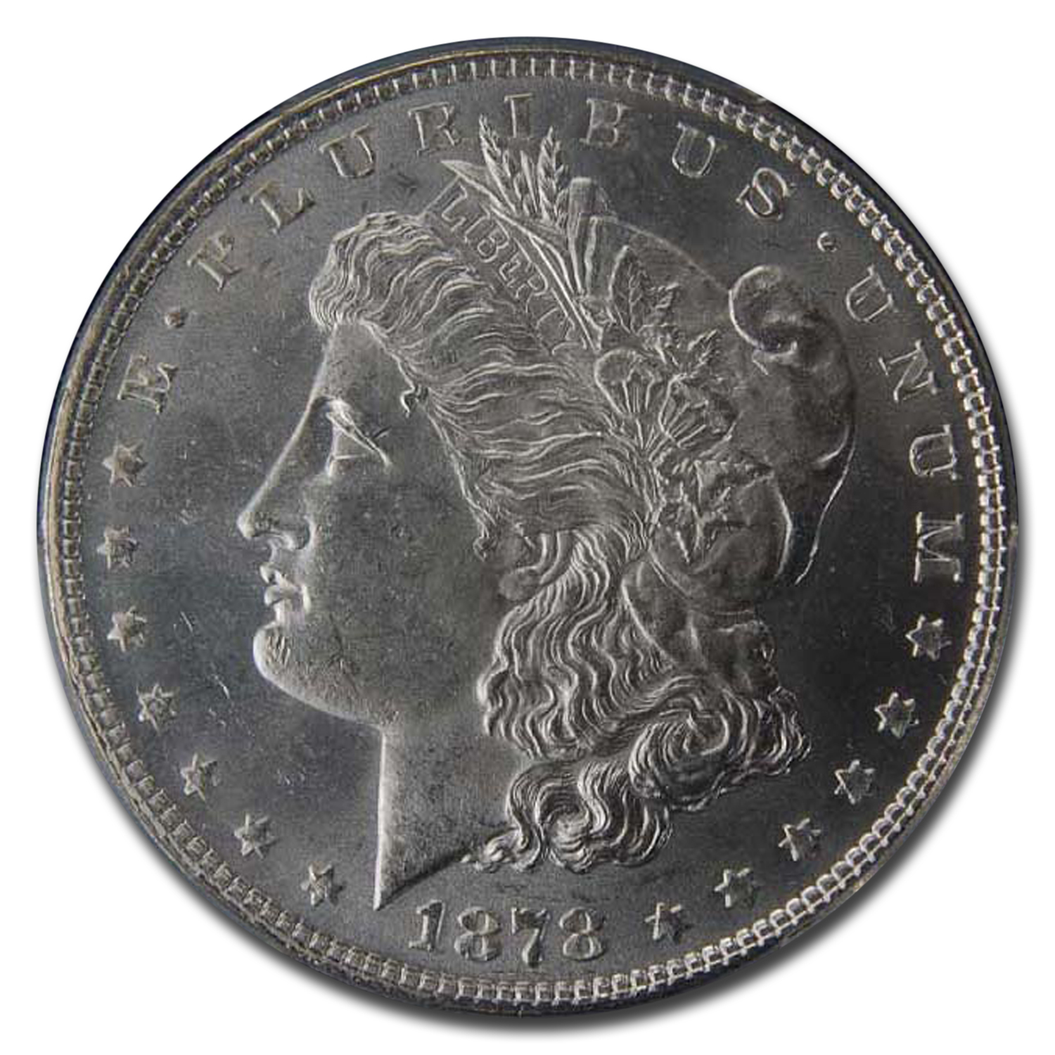 1878 Morgan Dollar 7/8 Tailfeathers MS-65 PCGS (Strong)