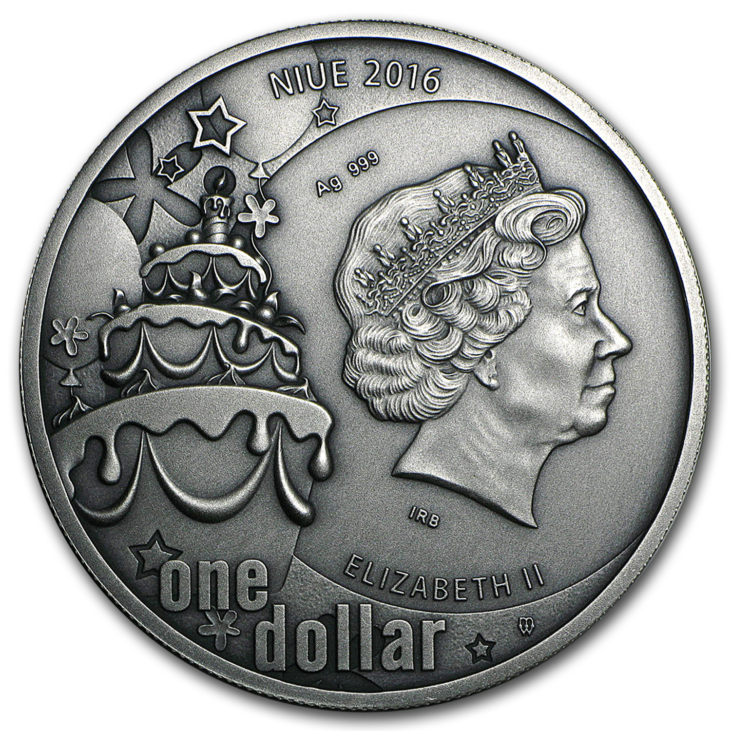 2016 Niue 1 oz Silver Happy Birthday Coin