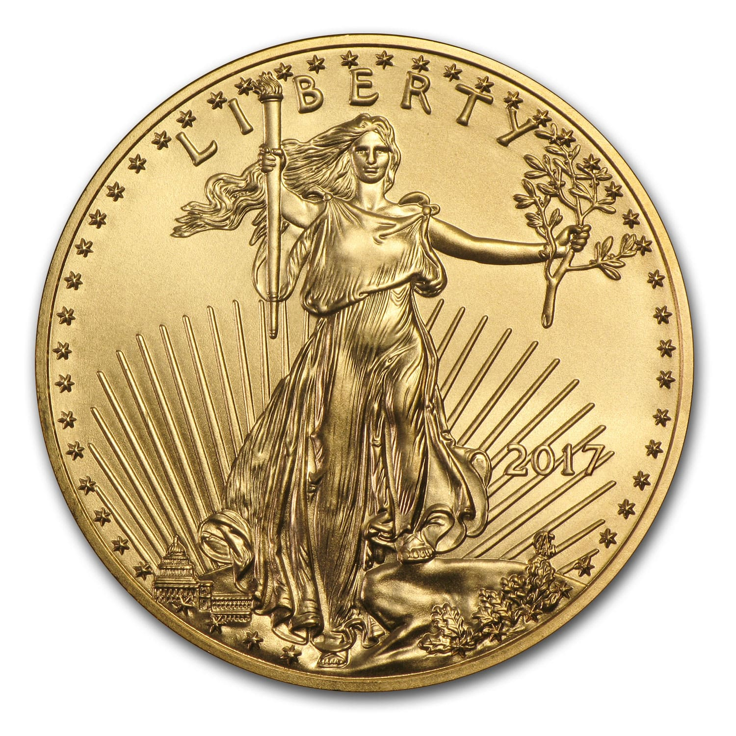 2017 1 oz Gold American Eagle BU