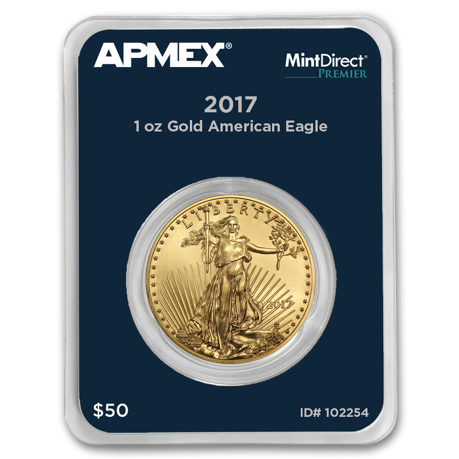 2017 1 oz Gold American Eagle (MintDirect® Premier Single)