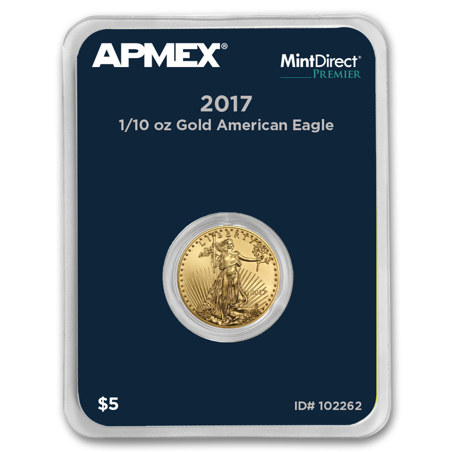 2017 1/10 oz Gold American Eagle (MintDirect® Premier Single)