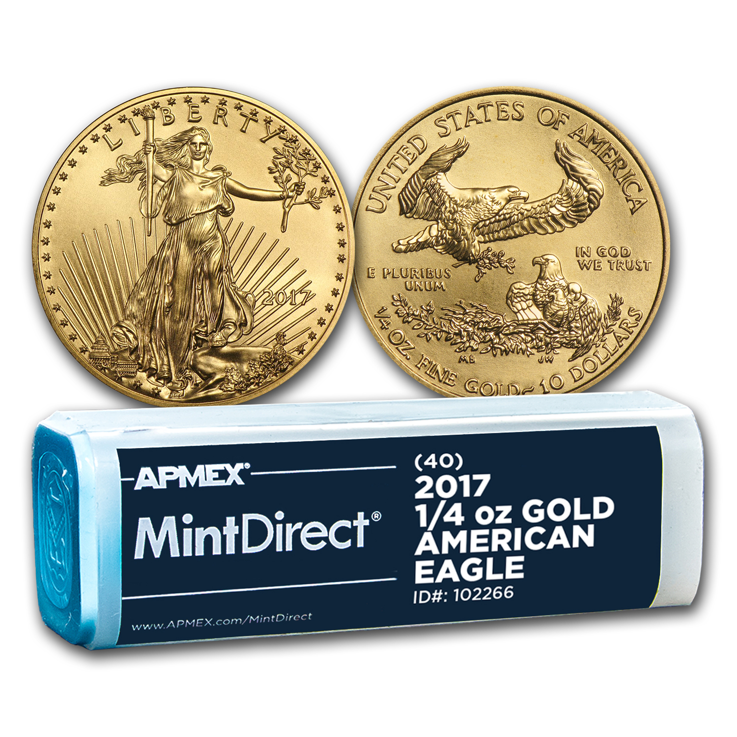 2017 1/4 oz Gold American Eagle (40-Coin MintDirect® Tube)