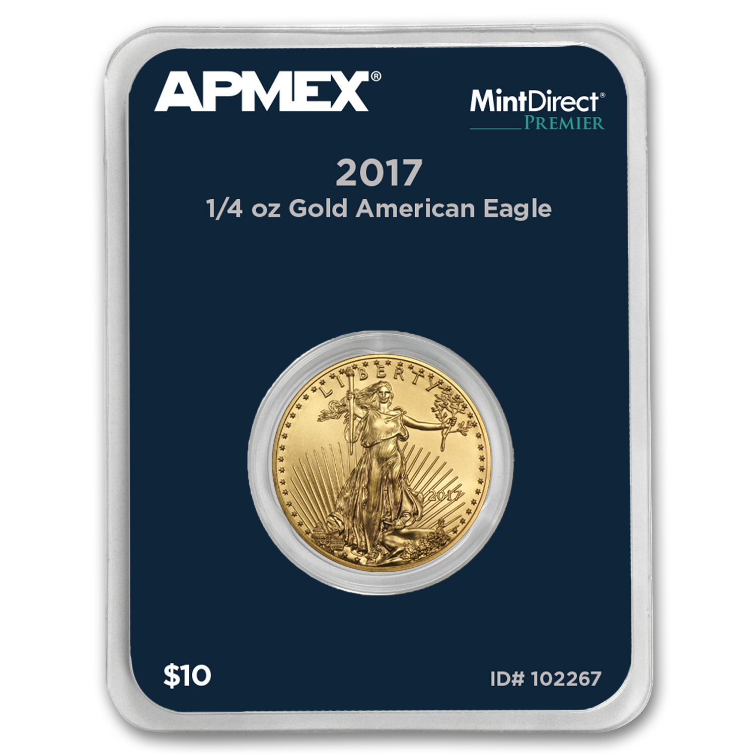 2017 1/4 oz Gold American Eagle (MintDirect® Premier Single)