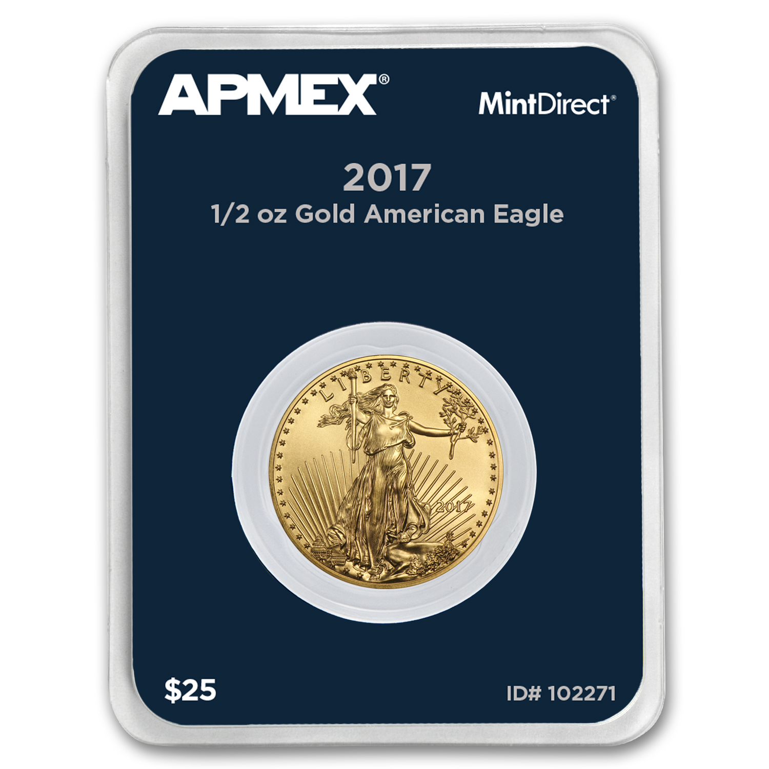2017 1/2 oz Gold American Eagle (MintDirect® Single)
