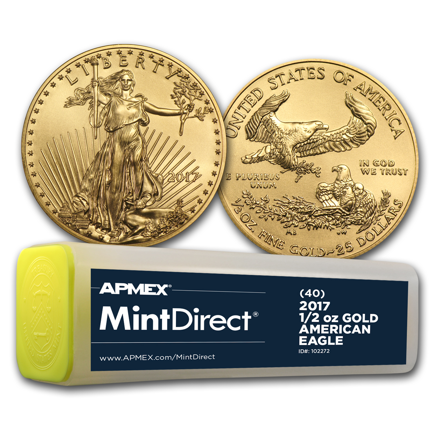 2017 1/2 oz Gold American Eagle (40-Coin MintDirect® Tube)